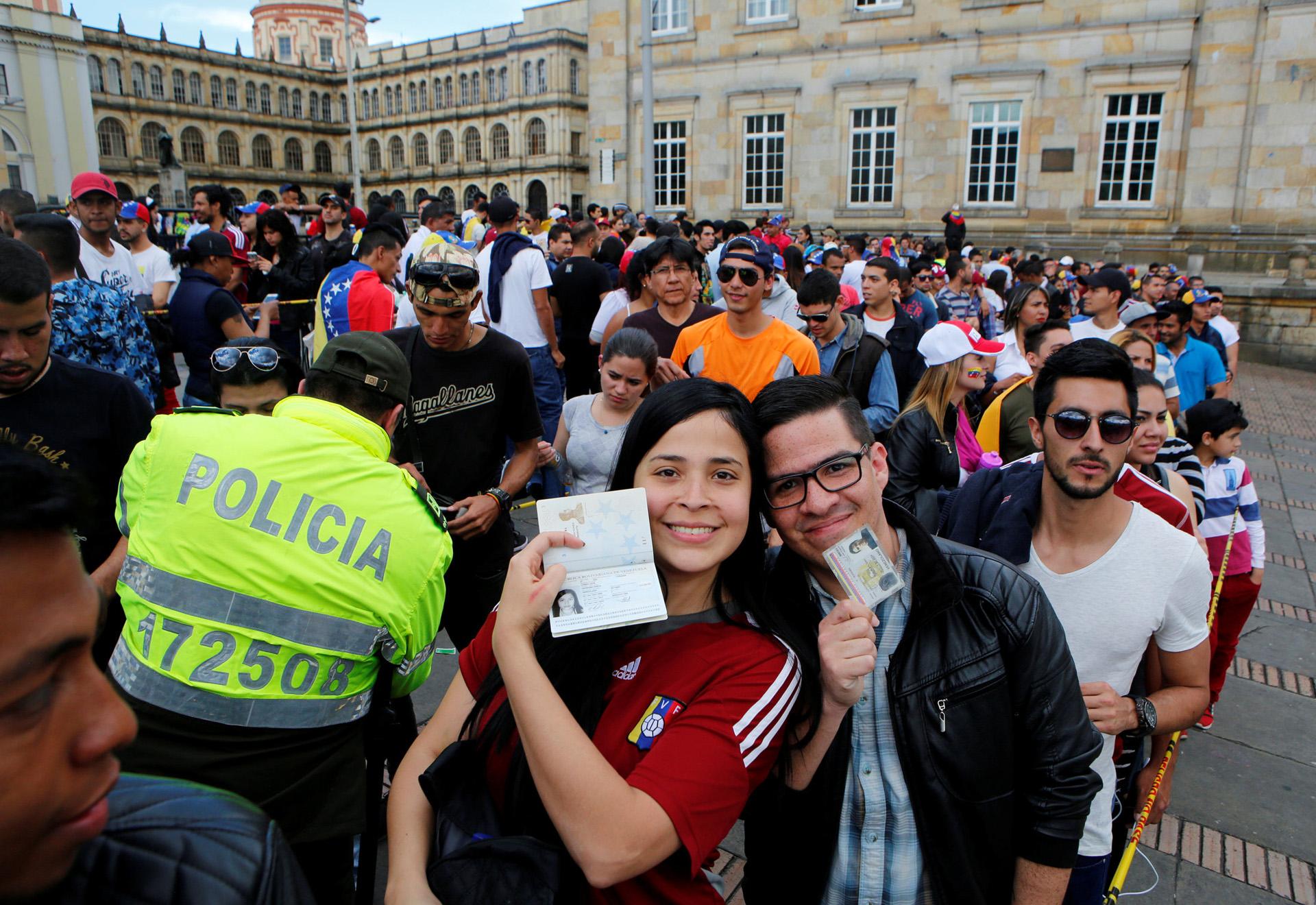 Bogotá también fue una de las capitales más concurridas por votantes venezolanos