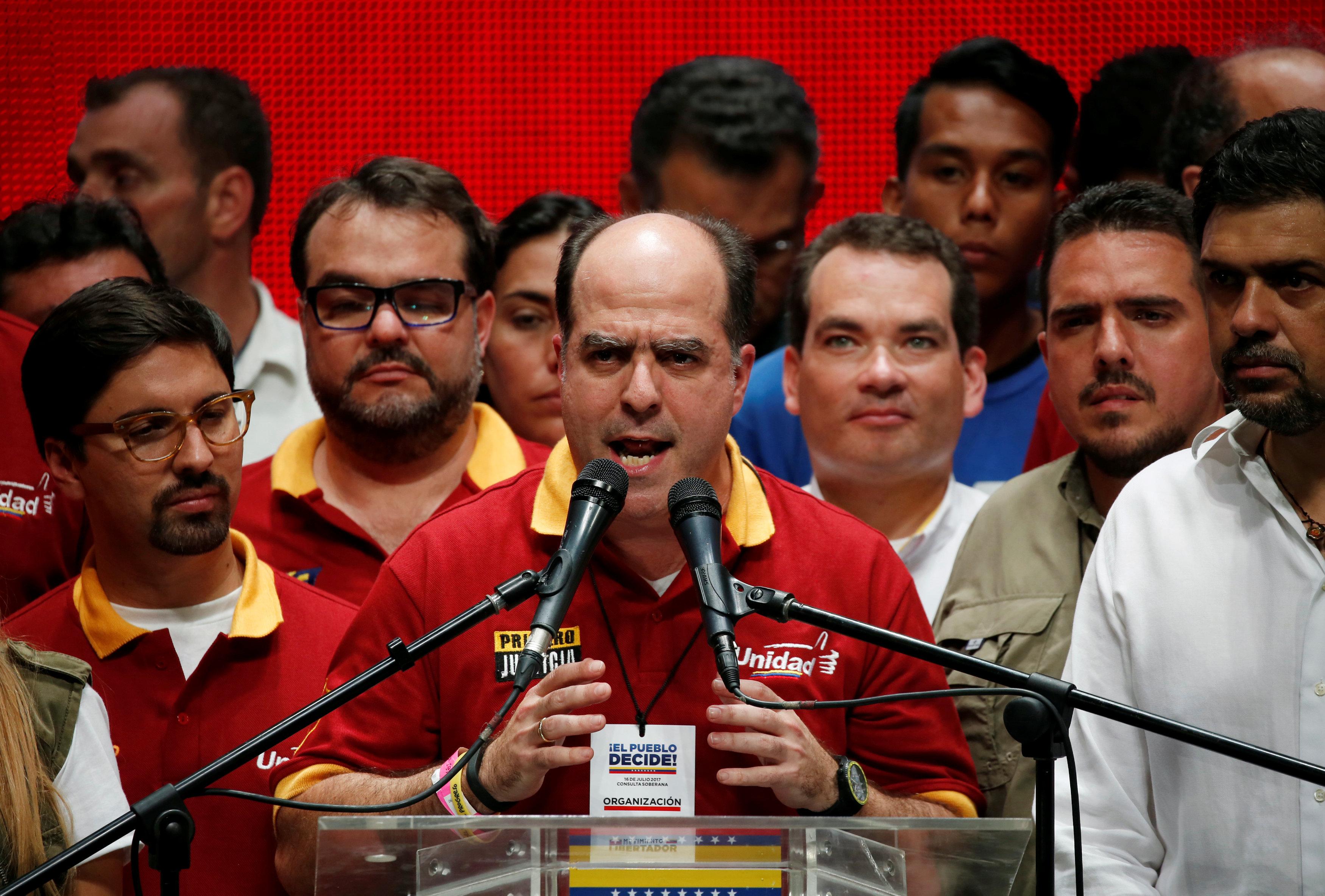 Julio Borges durante su discurso (Reuters)
