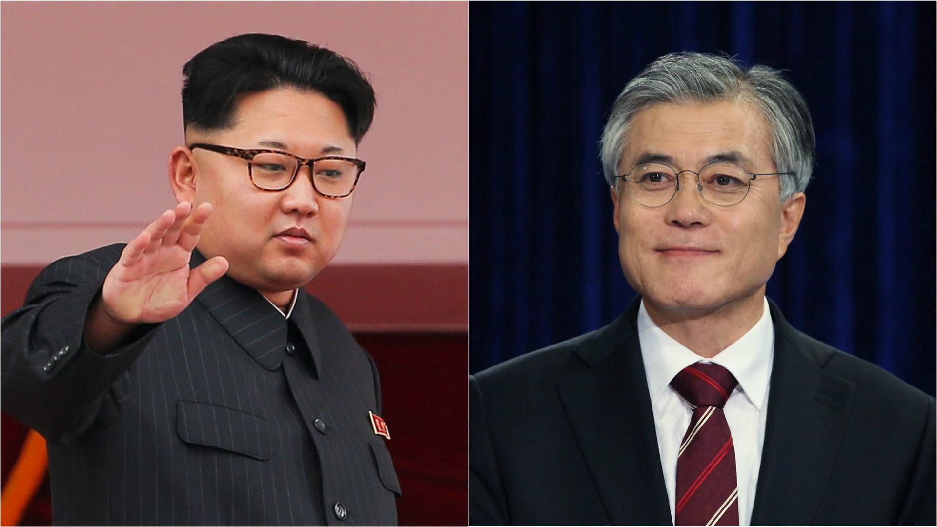 Kim Jong-un y Moon Jae-in, los líderes de Corea del Norte y del Sur