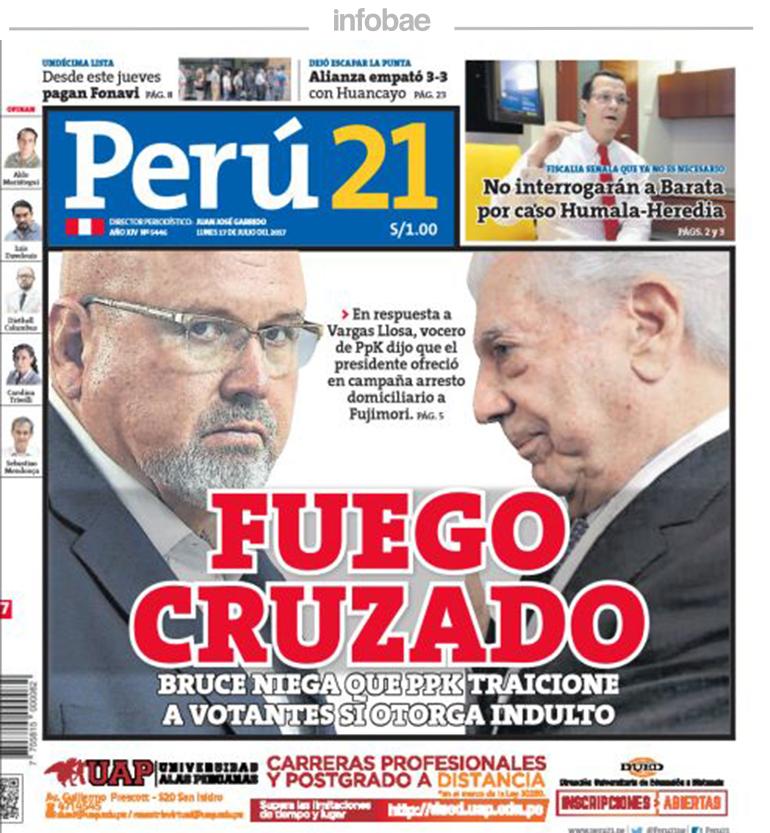 Perú 21, Perú, Lunes 17 de julio de 2017