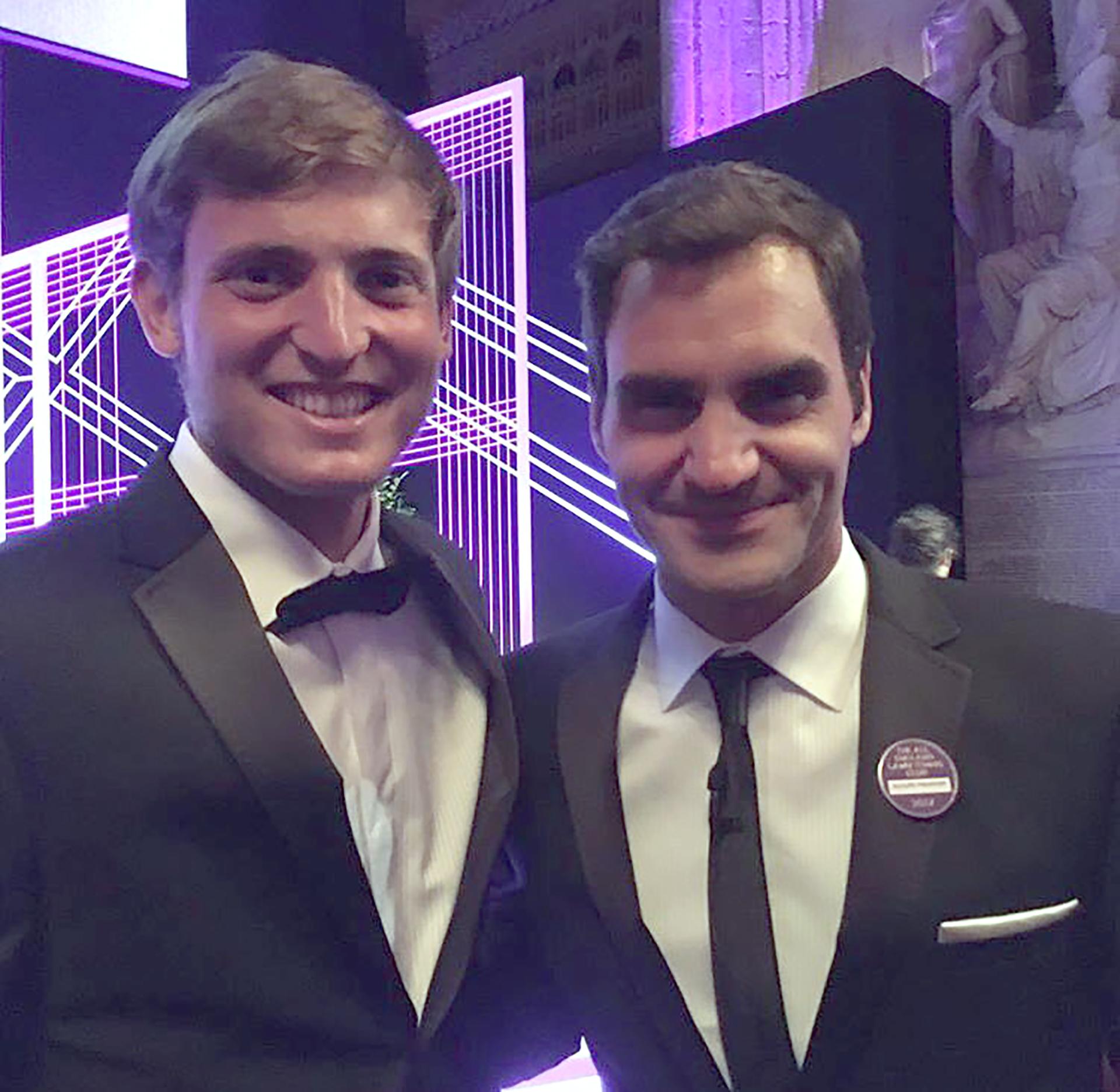 El argentino Axel Geller, campeón en dobles junior, cumplió el sueño de conocer a Federer