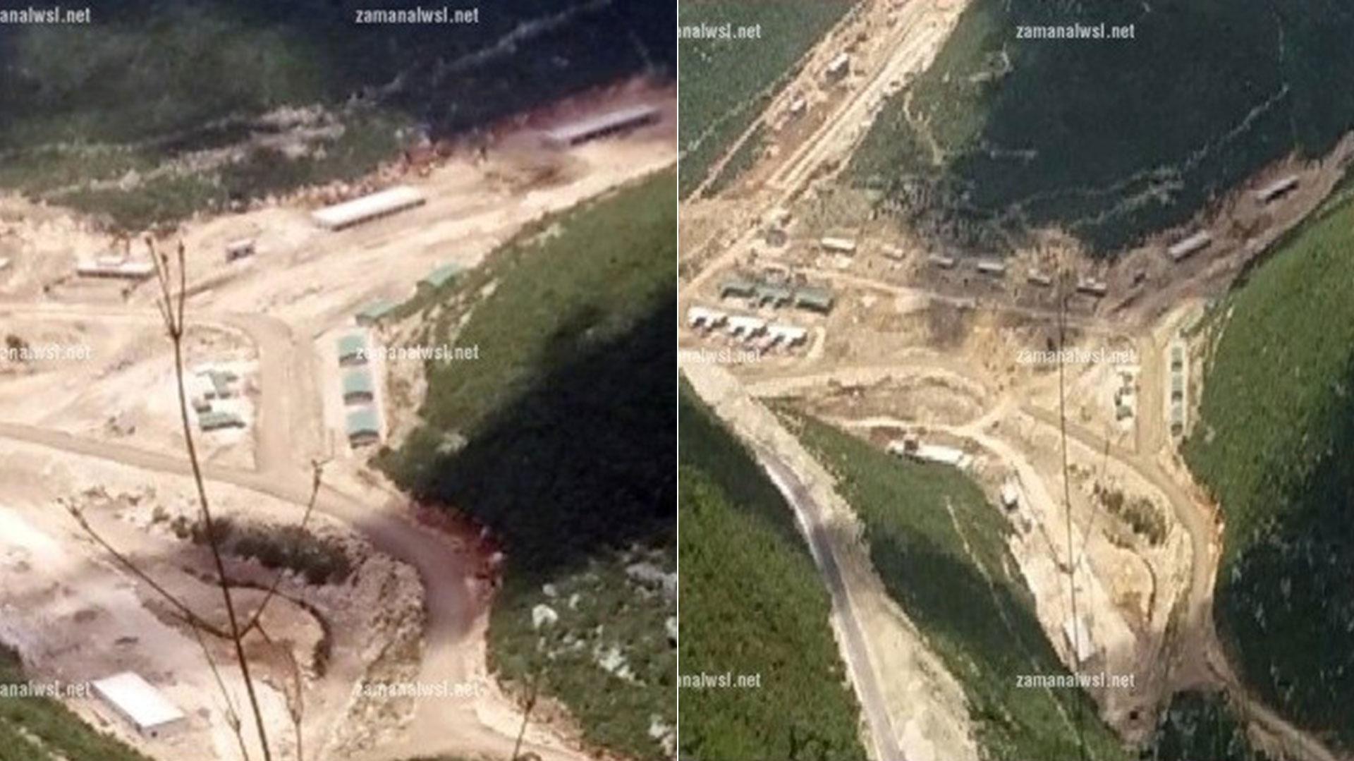Imágenes aéreas de las bases sirias