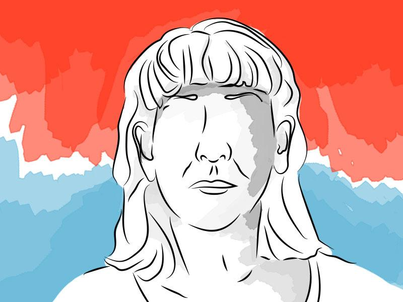 Ilustración basada en el rostro de Olga Sandra Murra sacada del expediente judicial. Vía Clementina León/VICENews