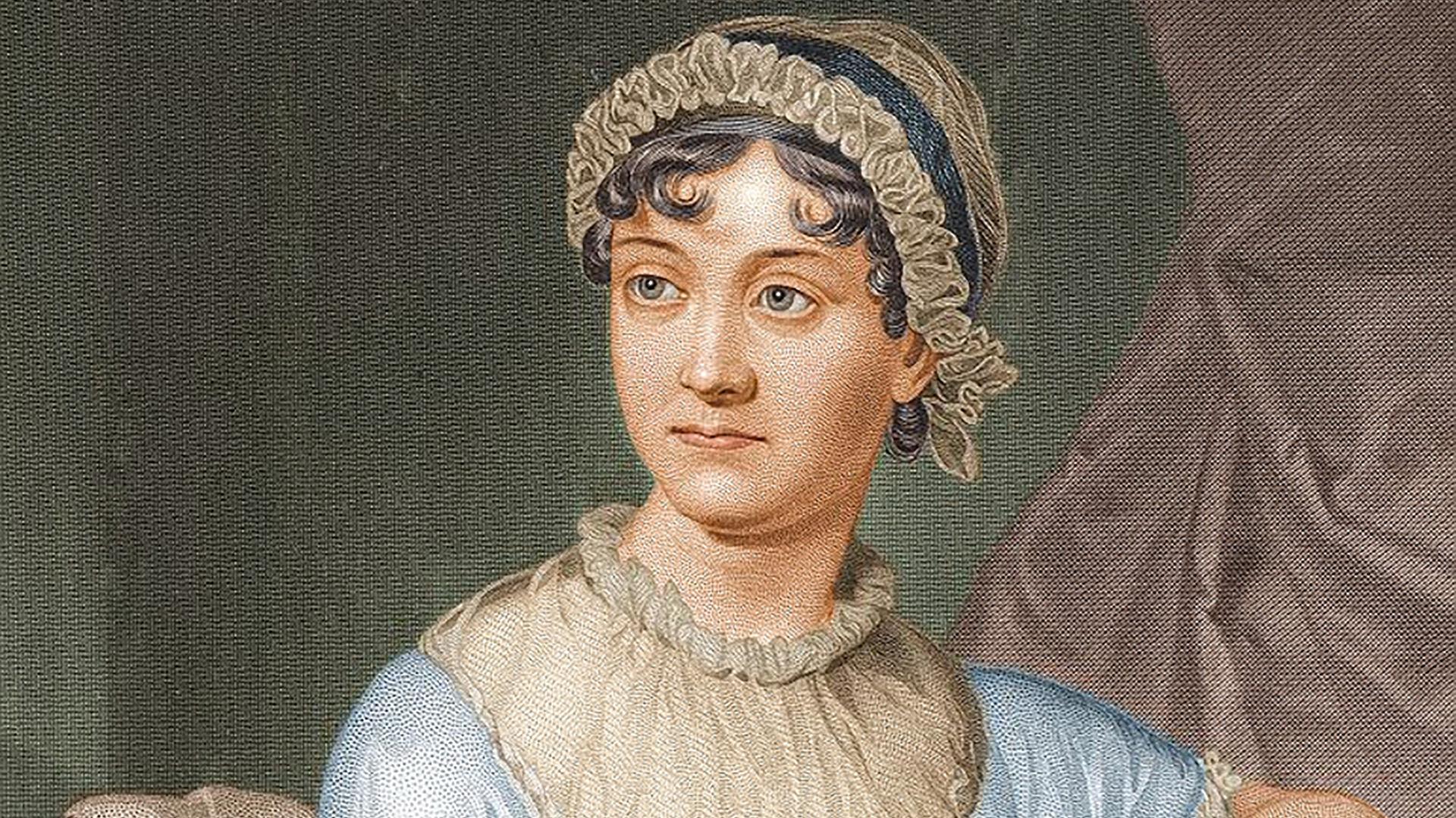 Retrato dela escritora Jane Austen, realizado por su hermana, Cassandra Austen.