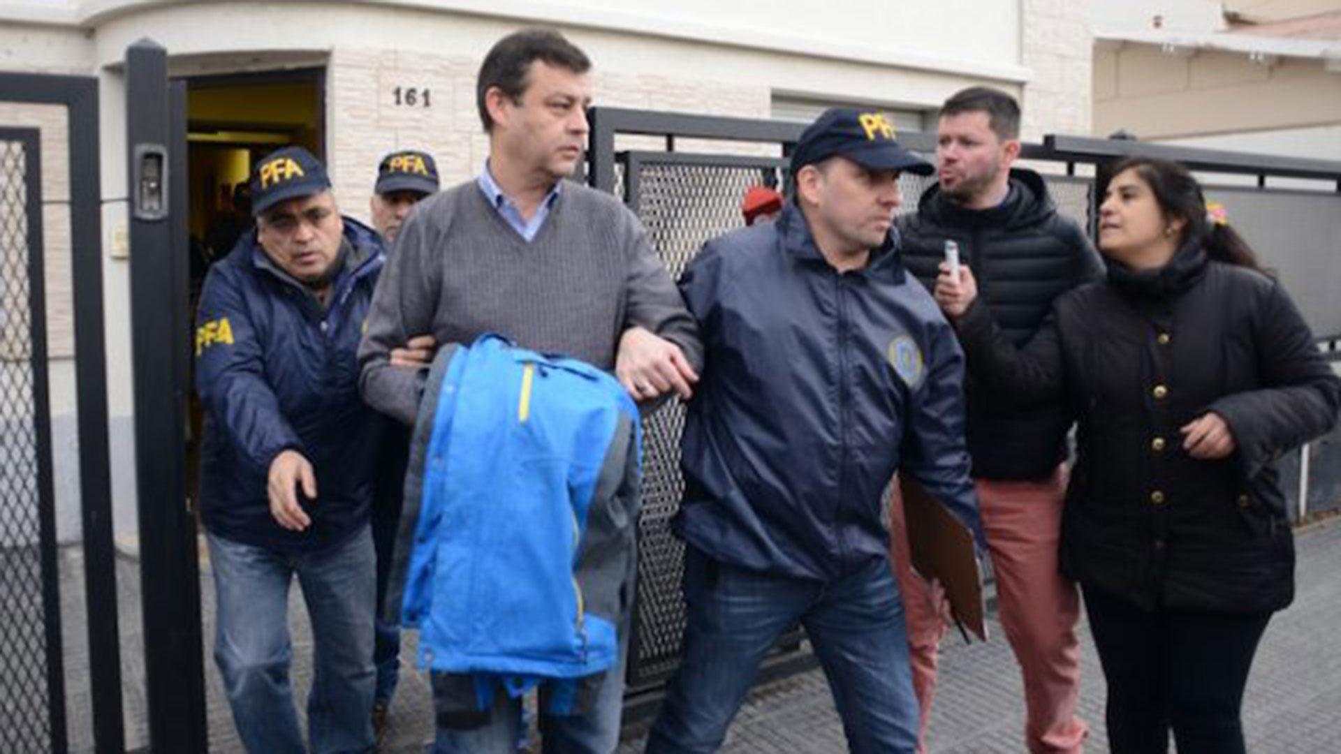 Víctor Manzanares, detenido este mediodía en Río Gallegos (Gentileza OPI Santa Cruz)