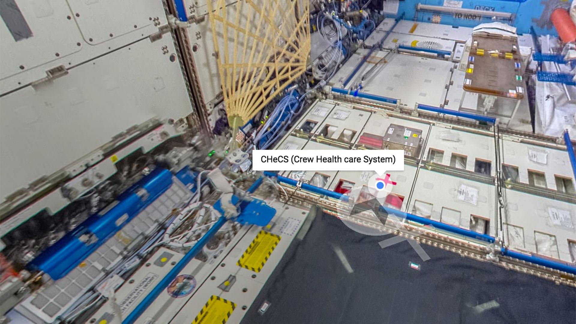 El tour virtual de la ISS tiene información sobre los objetos a bordo de la sonda espacial