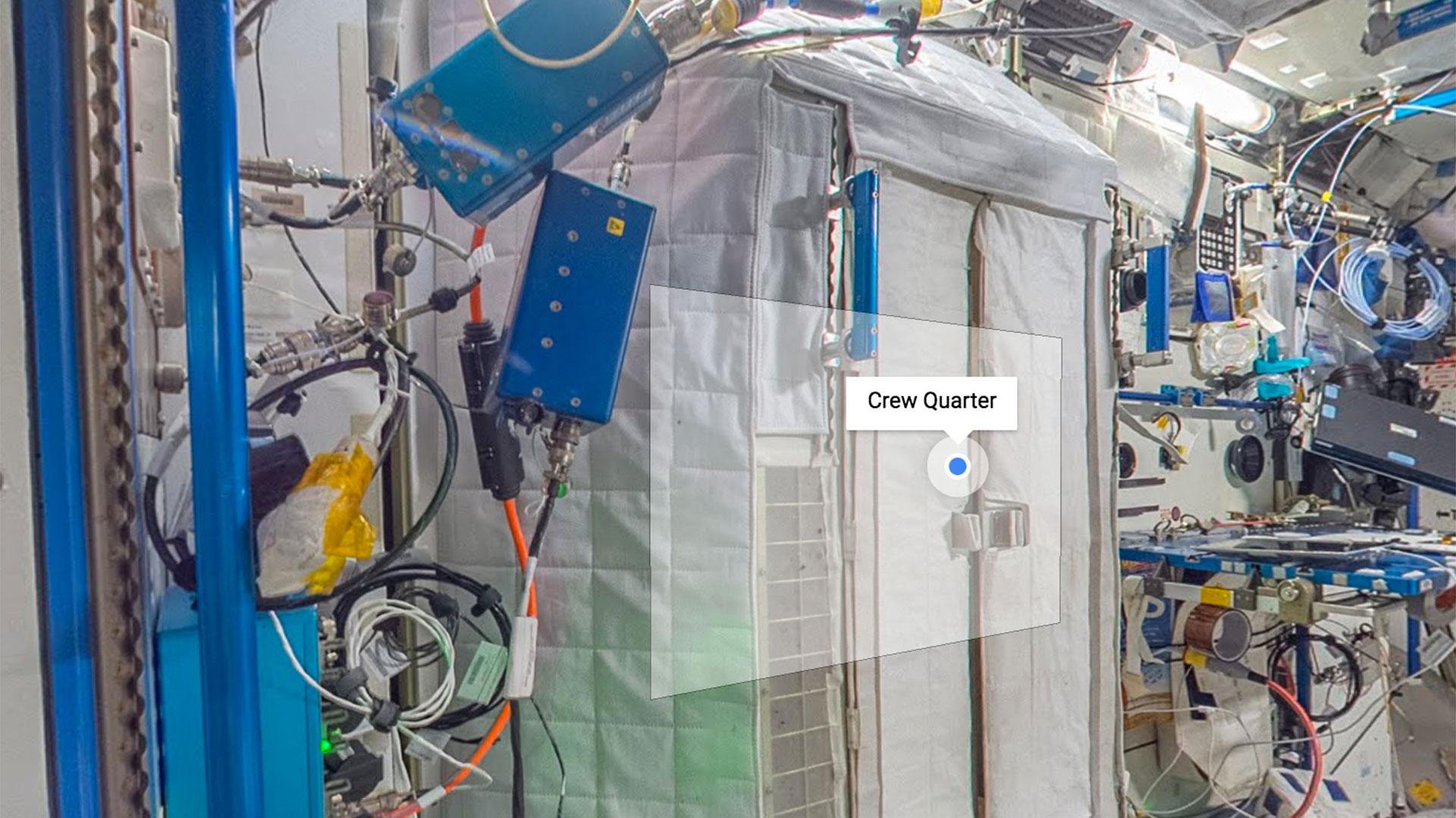 La puerta de un cuartopara los tripulantes de la ISS
