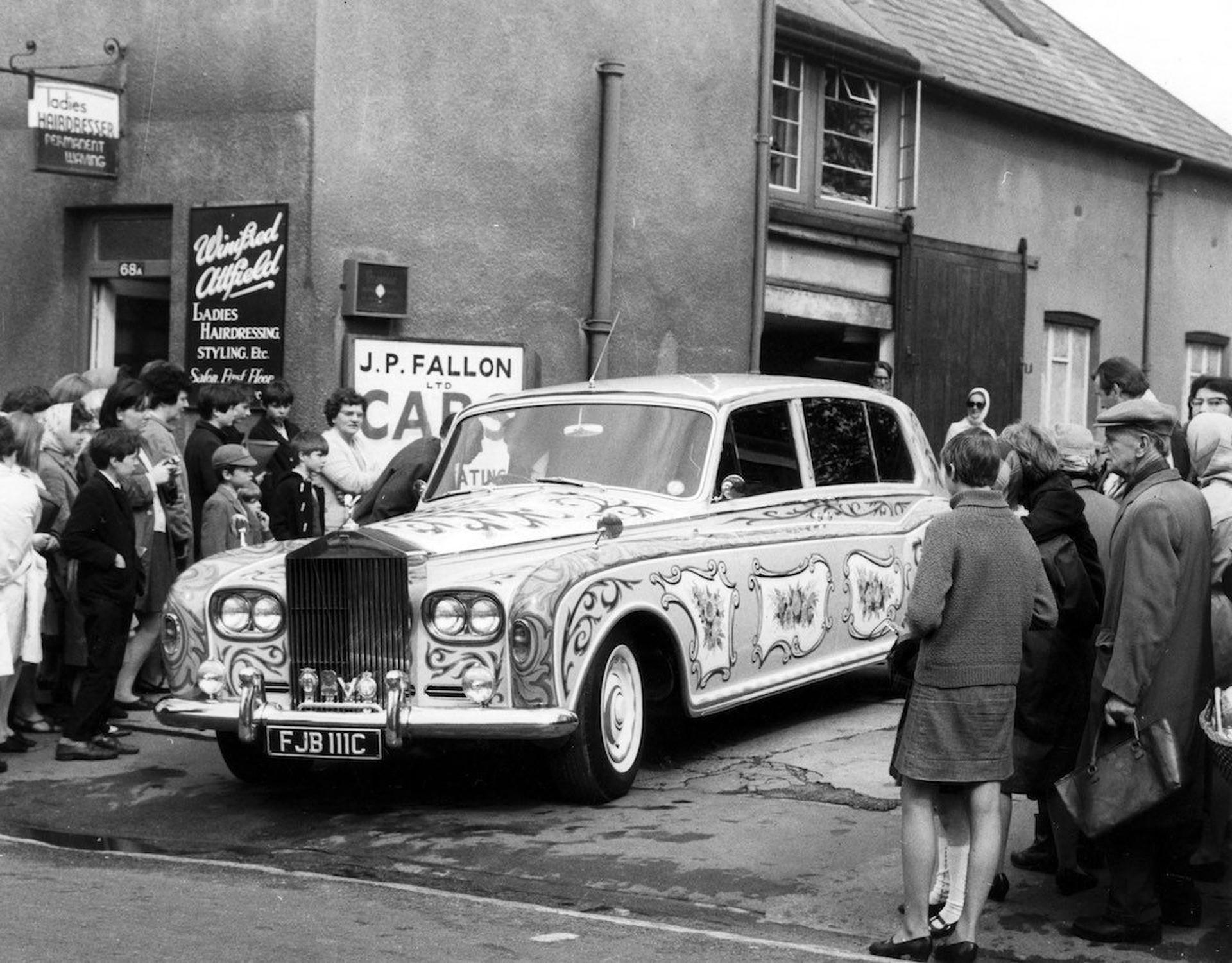 Una imagen de época del mítico Phantom V del compositor de Liverpool, que lo utilizó de 1965 a 1969