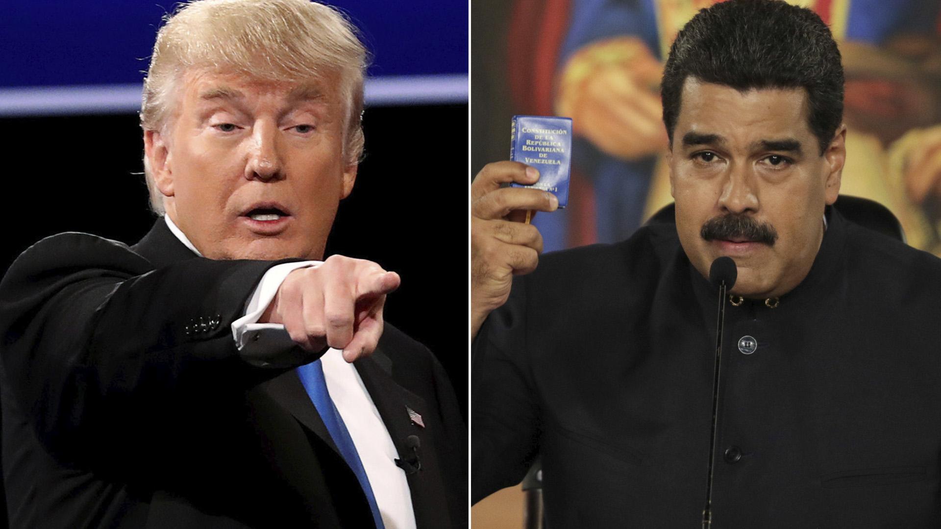 Donald Trump aplicó sanciones financieras directas a Nicolás Maduro