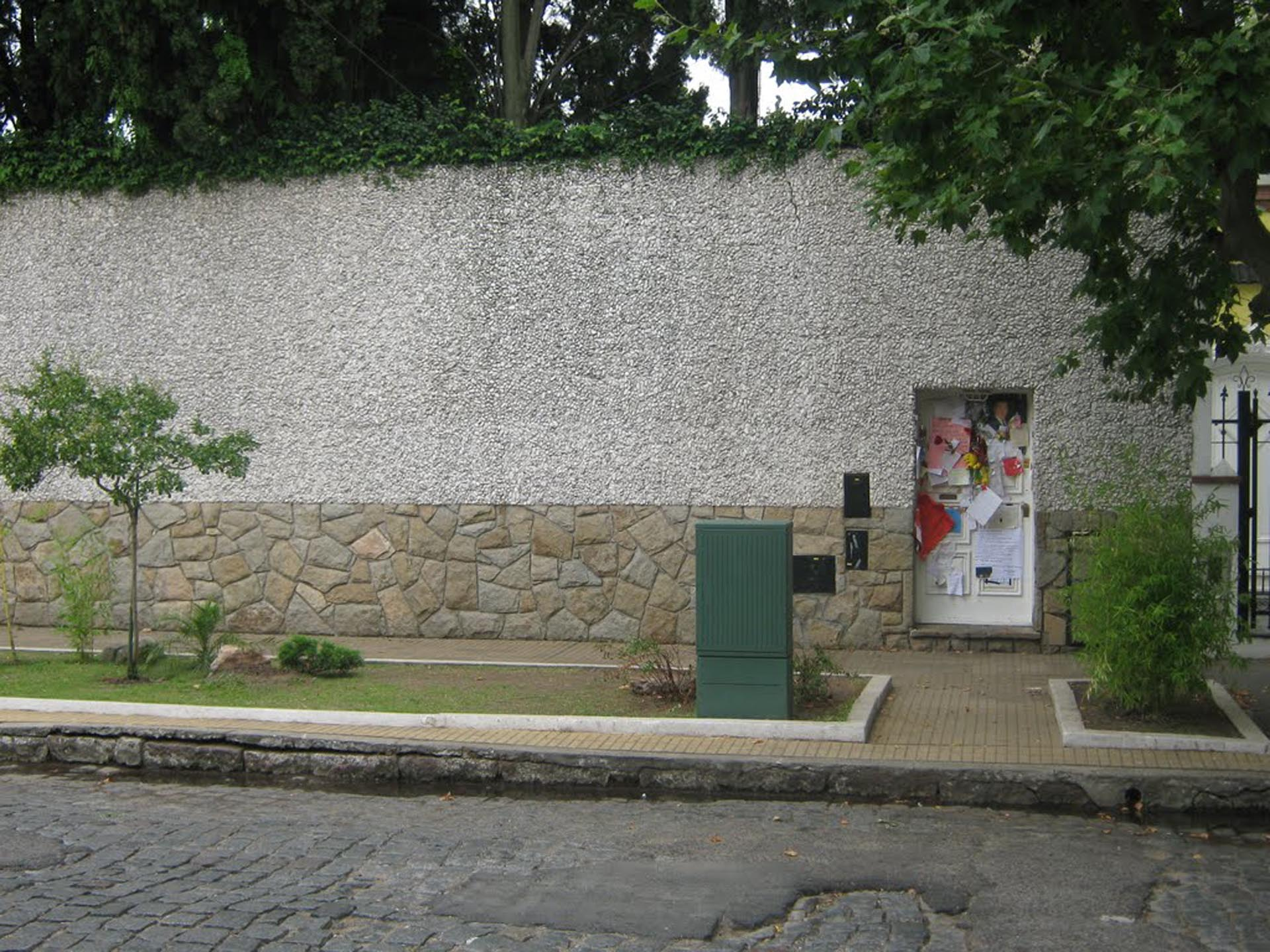 El frente de la casa de Sandro