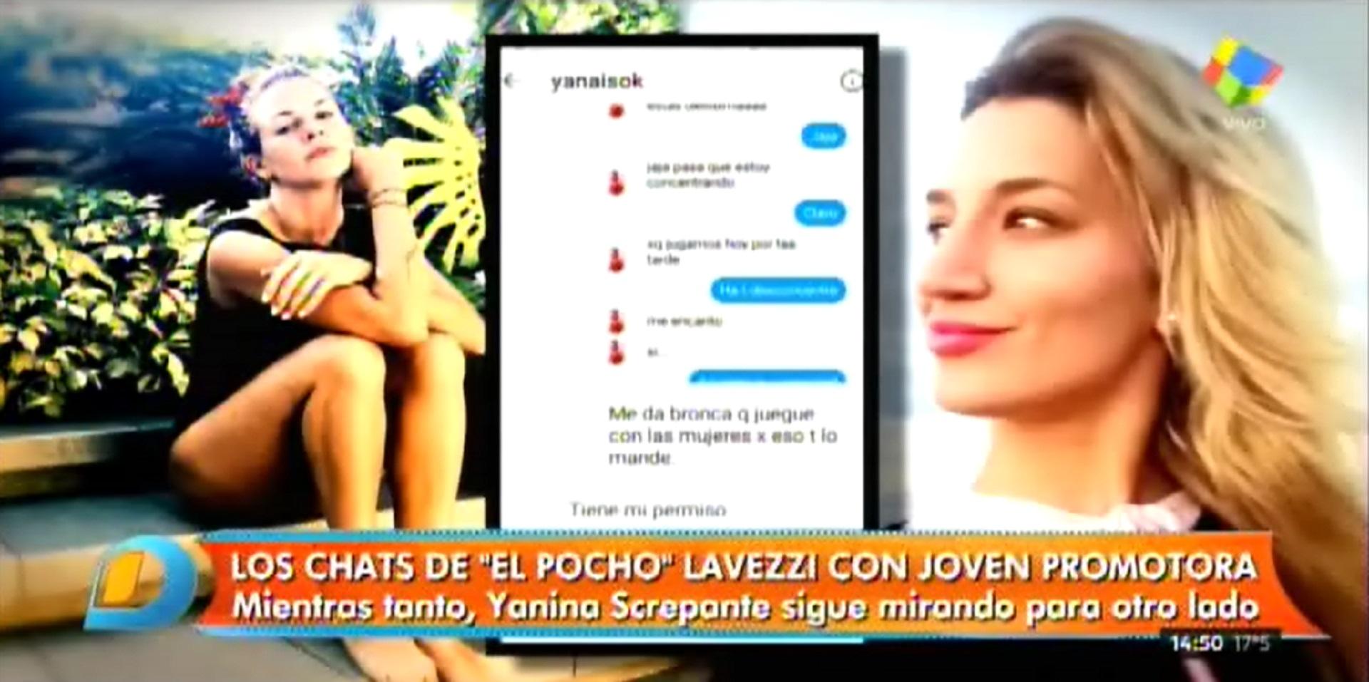"""Yanina Screpante le acepta un """"permitido"""" al Pocho Lavezzi"""
