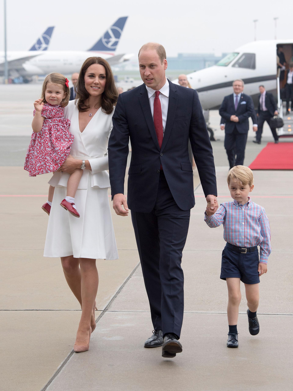 El príncipe William, Kate Middleton, el príncipe George y la princesa Charlotte (Getty)