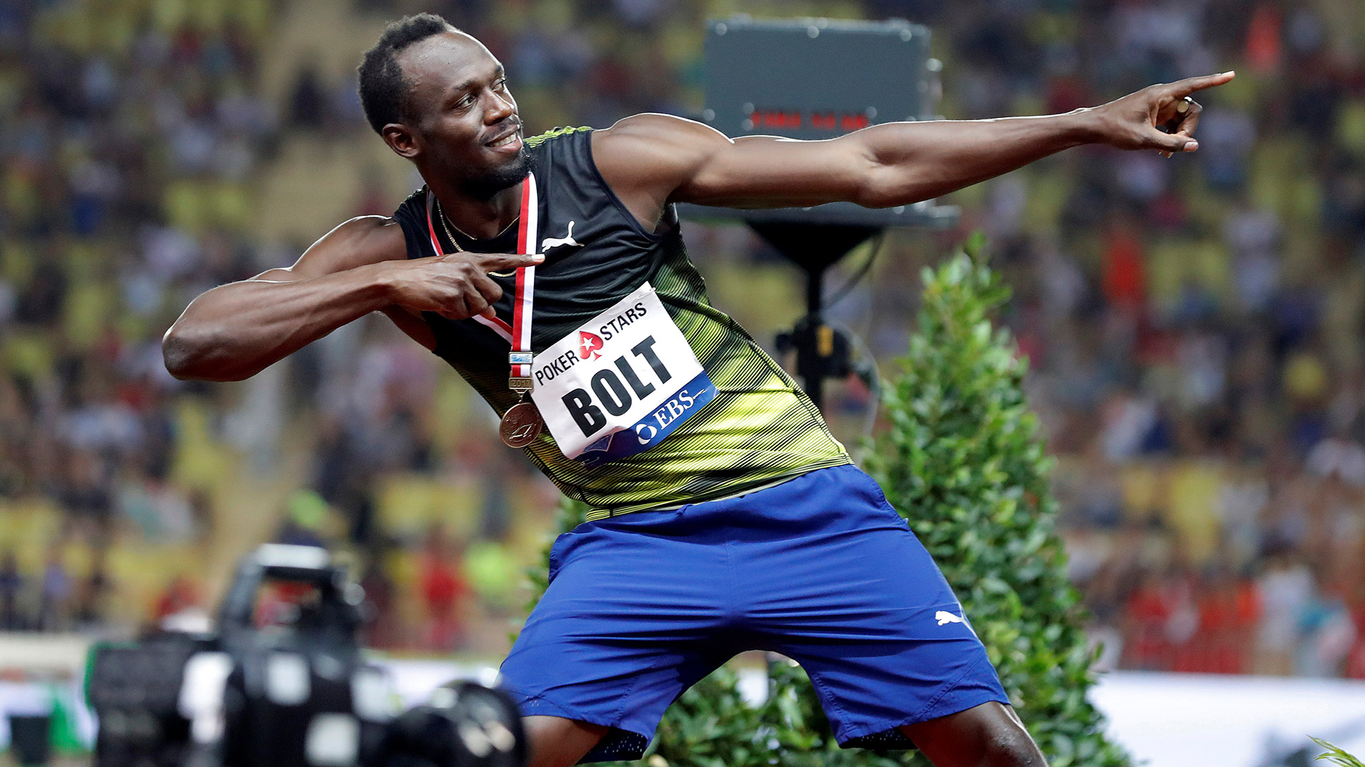Antes de disputar el Mundial en Londres, Usain Bolt reapareció en laDiamond League en Mónaco (Reuters)