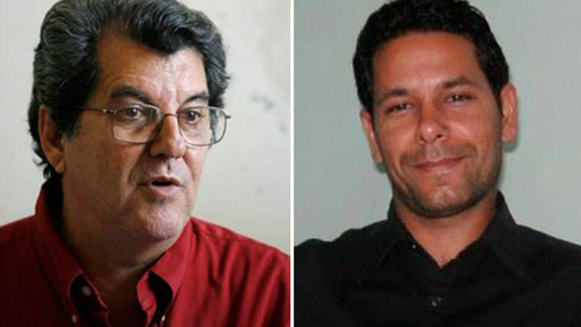 """El líder del Movimiento Cristiano LIberación, Oswaldo Paya (izquierda), y el activista opositor Harold Cepero murieron en lo que Cuba llamó un """"accidente"""" automovilístico"""
