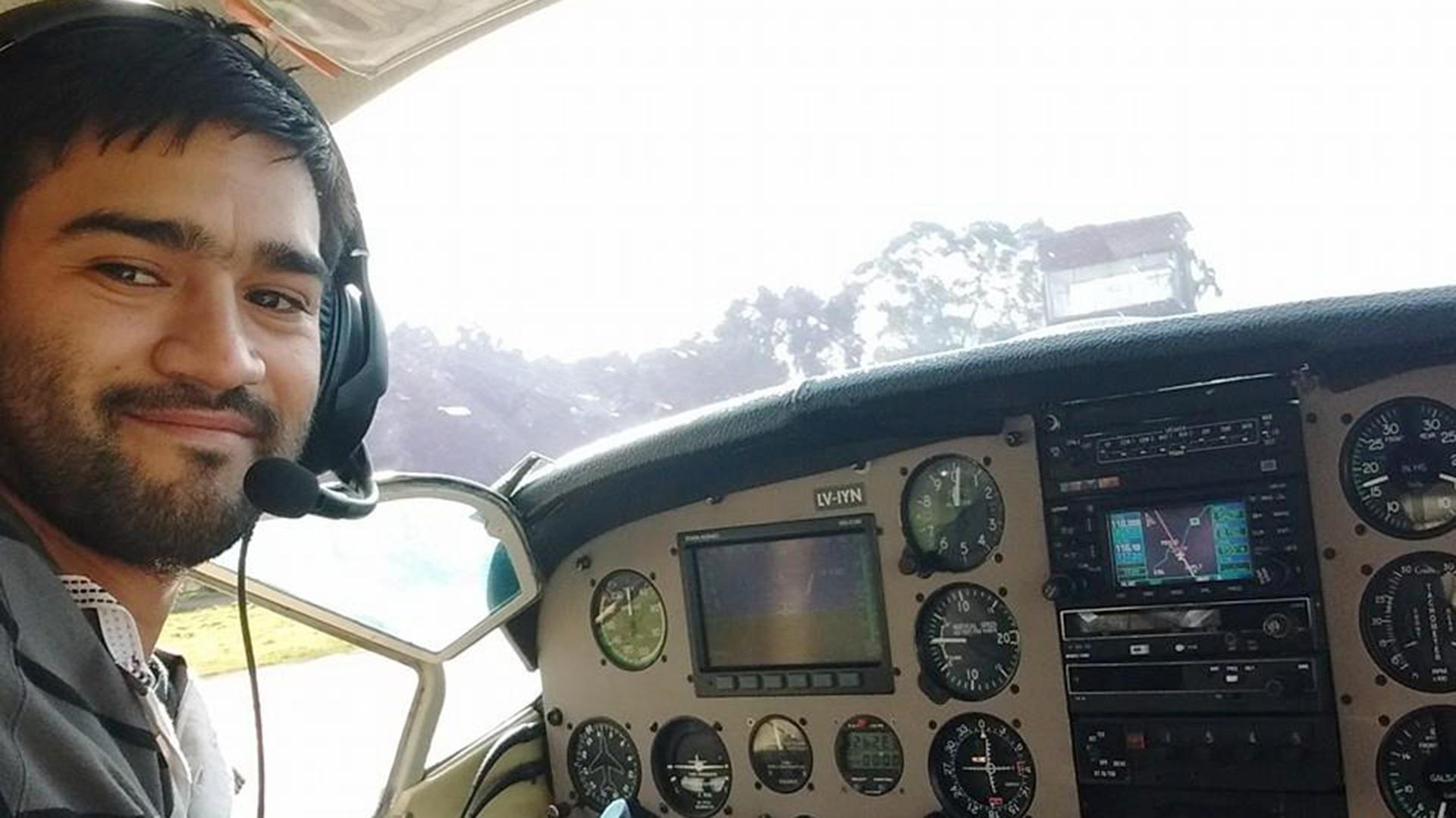 Matías Ronzano, piloto de la avioneta accidentada