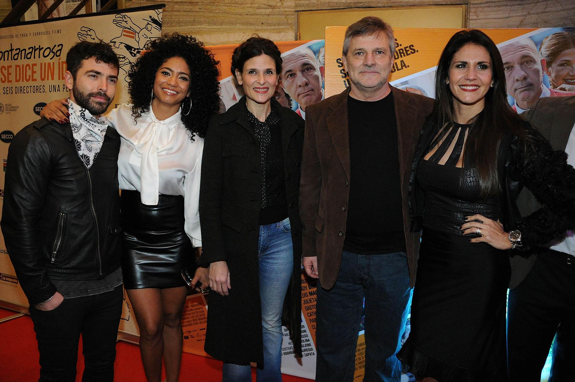 Nazareno Casero, kate Rodríguez, Ana Celentano, Hugo Grosso e Ivana Acosta