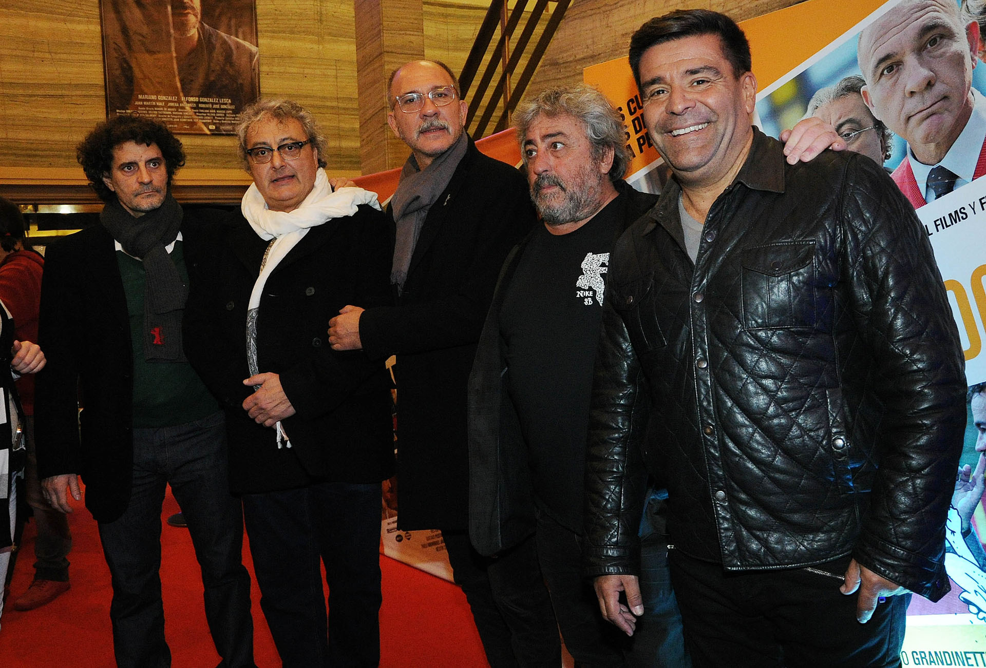 Gabriel Pastore, Claudio Rissi, Darío Grandinetti, Héctor Molina y Chiqui Abecasis