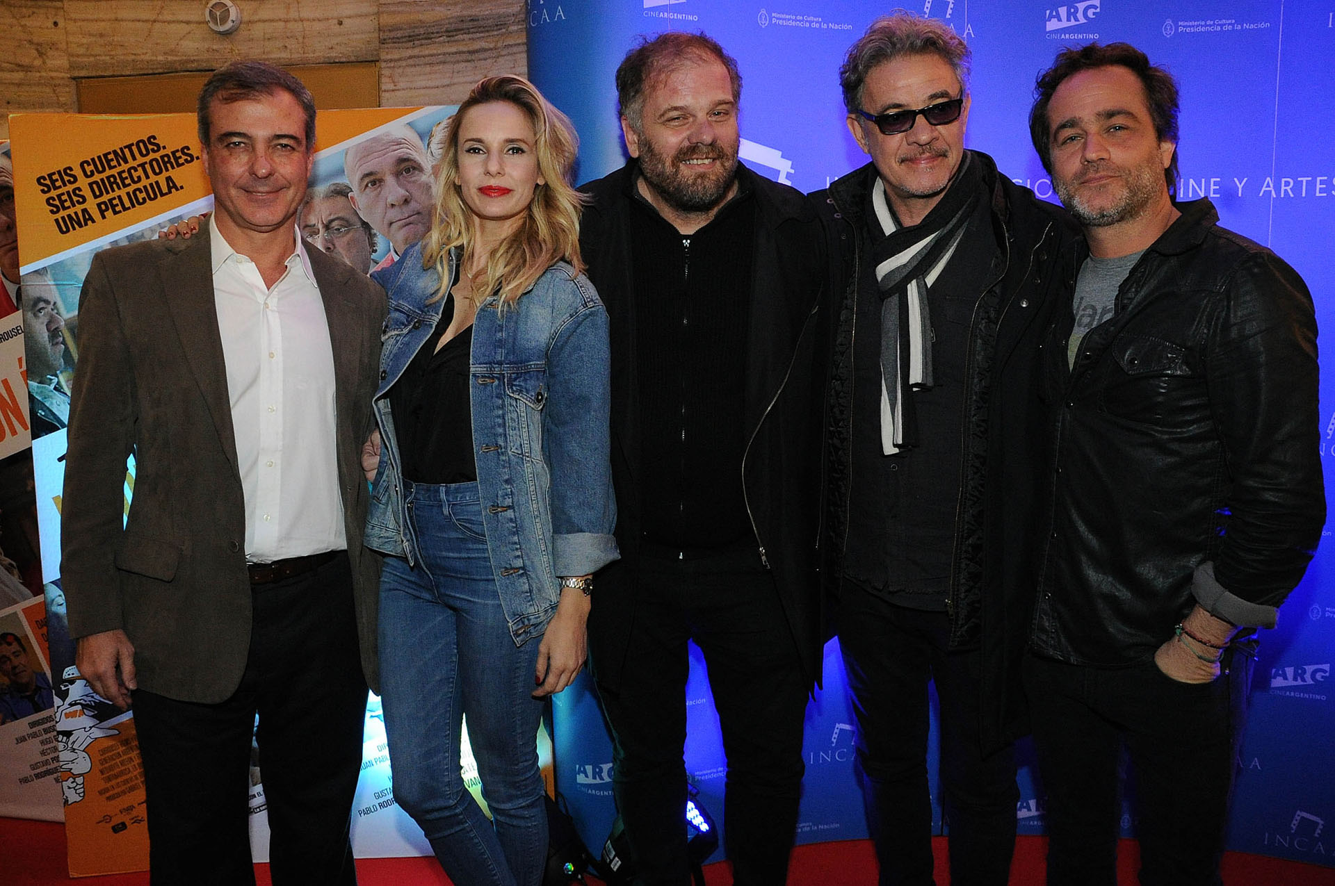 Diego Sueiras, Julieta Cardinali, Gustavo Postiglione, Jean Pierre Noher y Gastón Pauls (Crédito: Verónica Guerman / Teleshow)