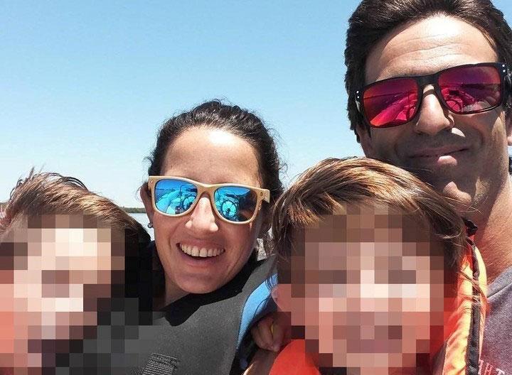 Matías Aristi y familia.