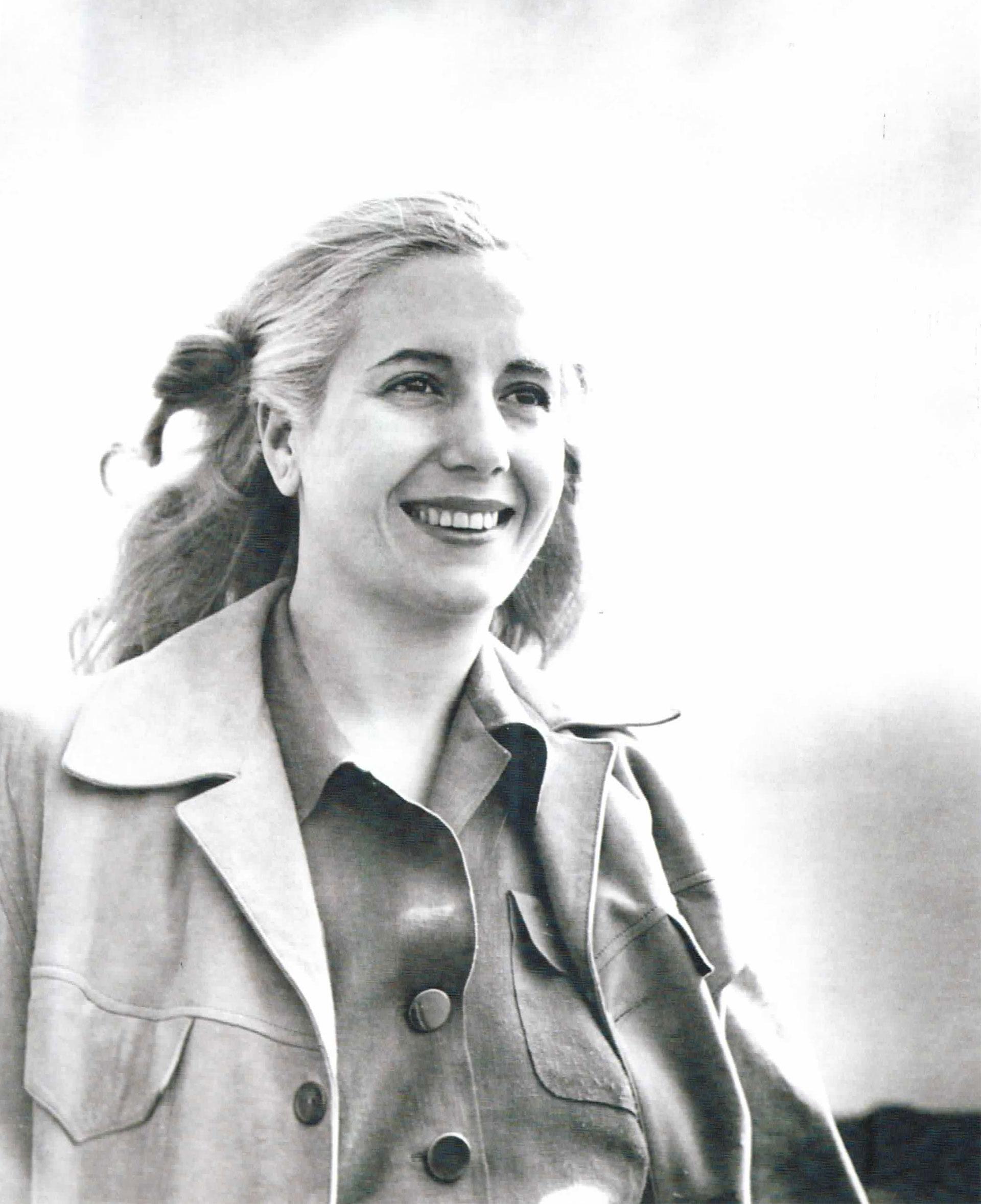 Muchas de las fotografías de Pinélides Fusco ya son parte de la iconografía peronista, como ésta de Eva con el cabello suelto, la favorita de los setentistas
