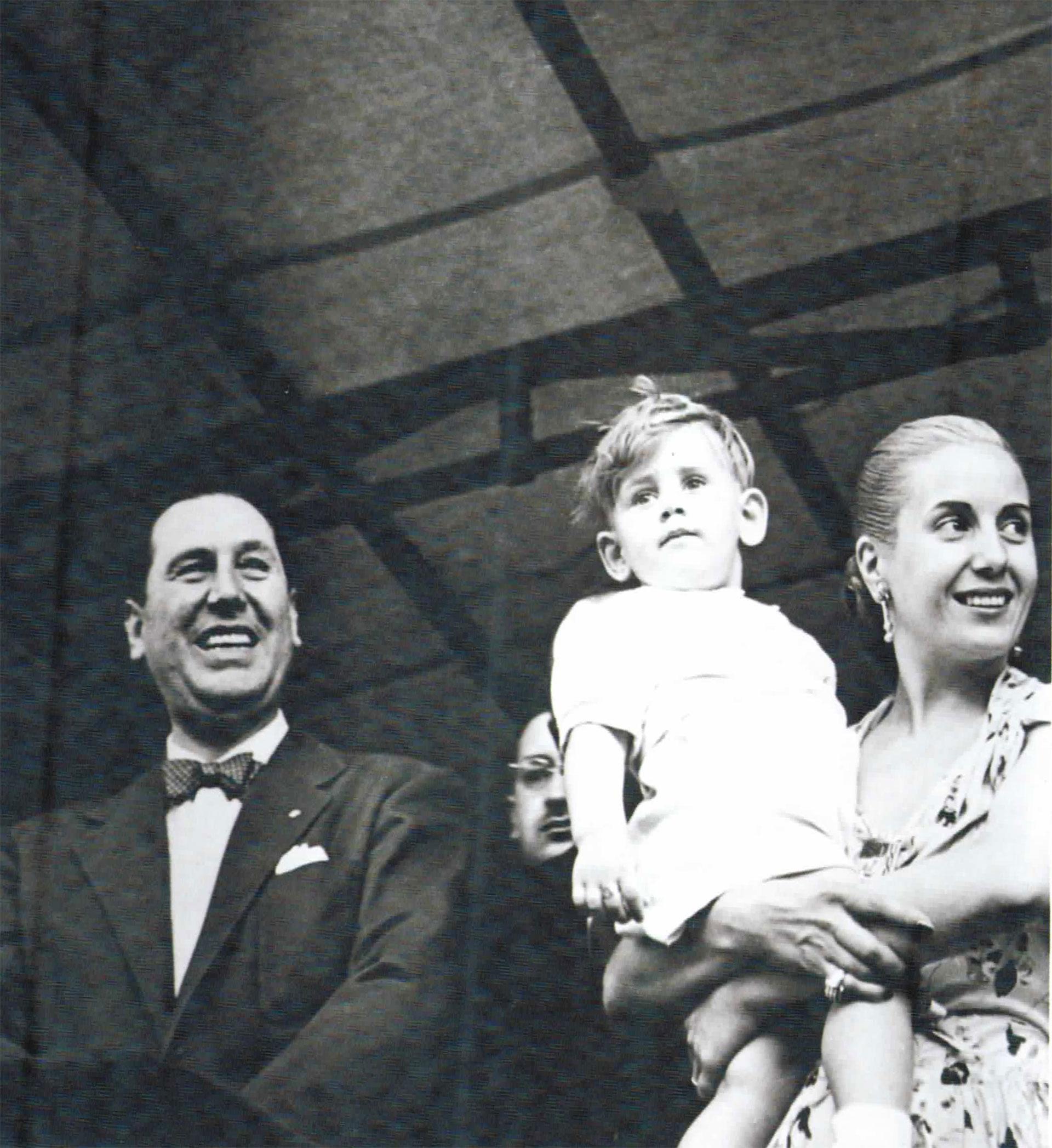 Tiempos felices: Perón y Eva en un acto