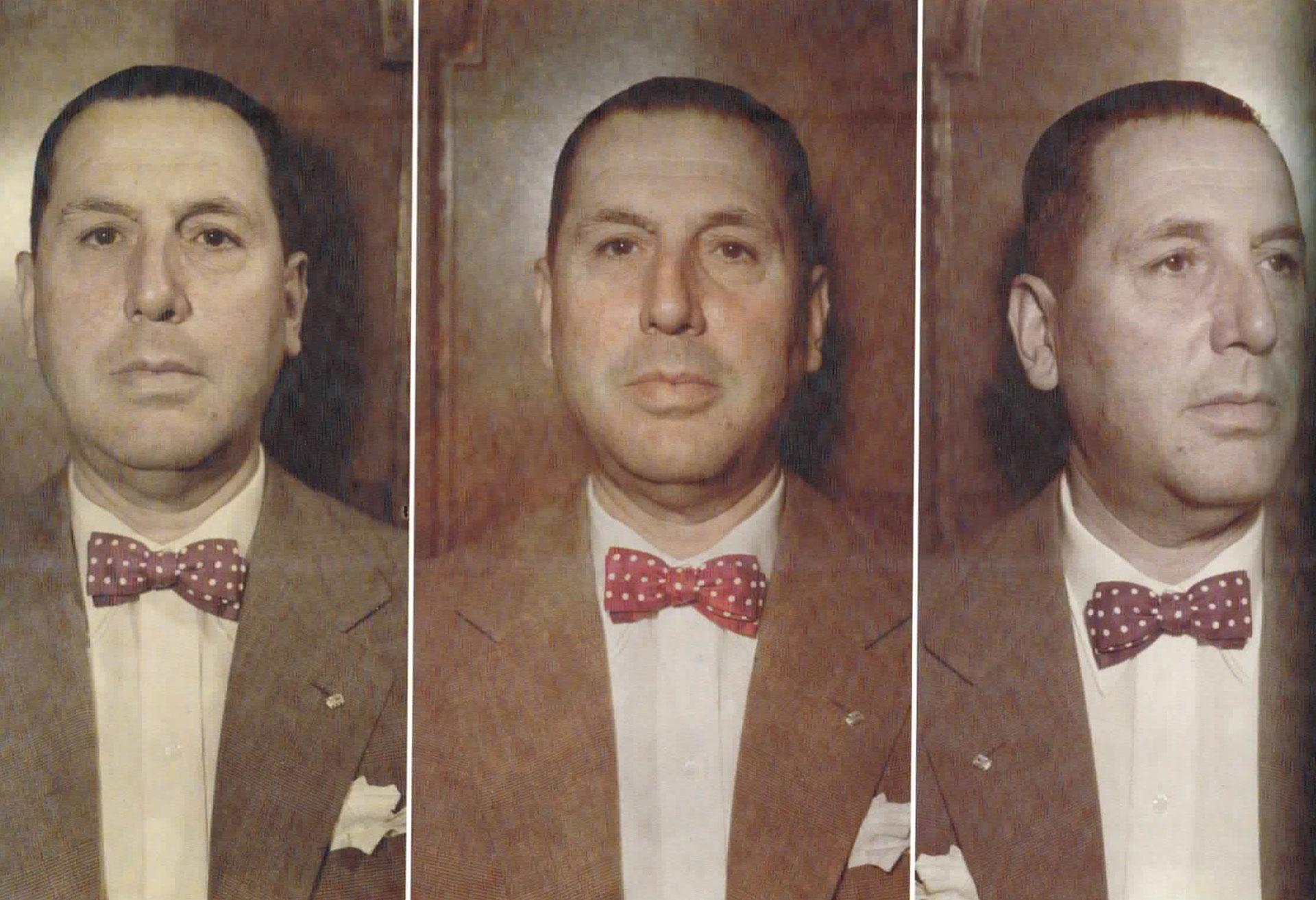 Ensayos para un retrato de Perón. Primeras fotografías en color, a fines de los años 40.