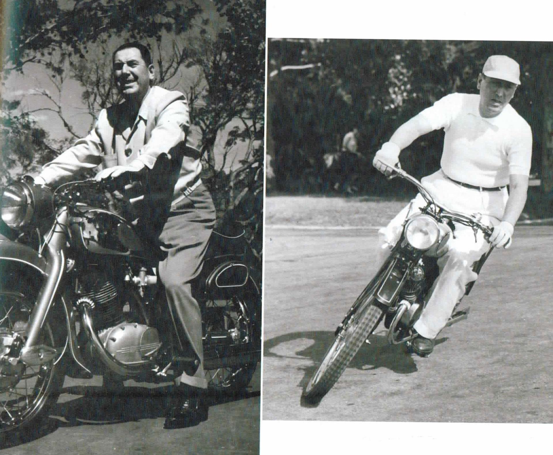 Otras tomas de Perón en moto