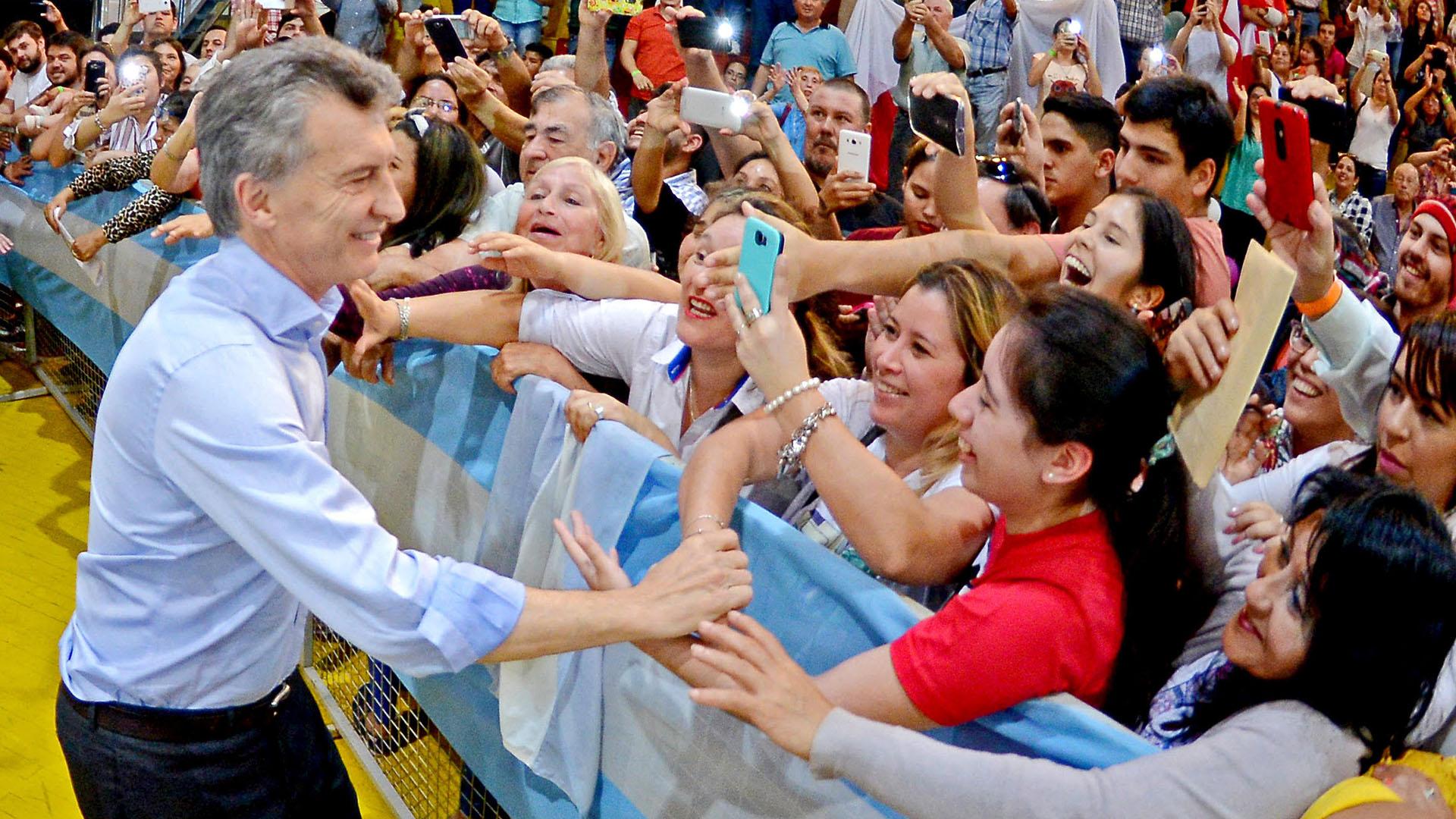 Mauricio Macri en Misiones durante otra visita (Prensa Cambiemos)
