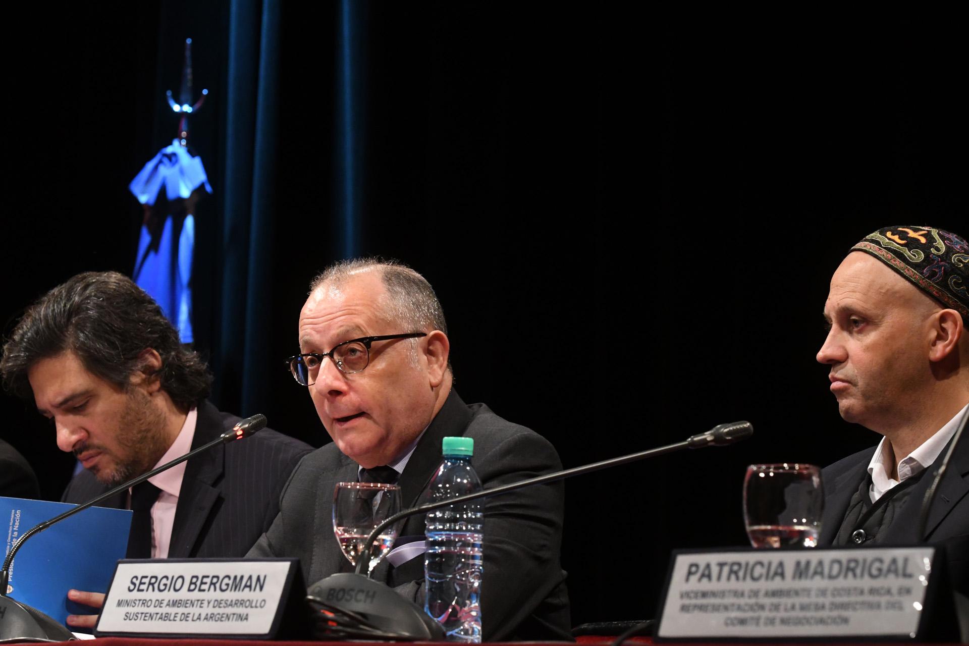 El canciller Jorge Faurie, junto al ministro de Ambiente Sergio Bergman y su par de Justicia y DDHH, Germán Garavano, encabezaron un encuentro con representantes de países de América Latina y el Caribe en el ministerio de Relaciones Exteriores