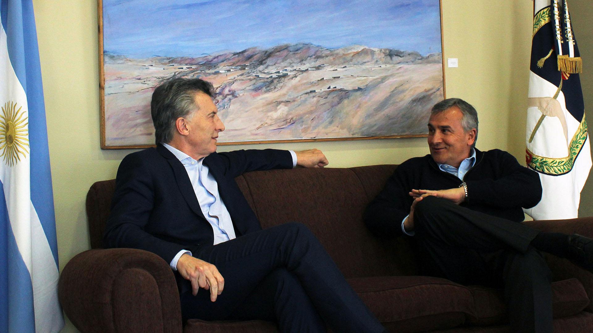 El presidente Mauricio Macri y el gobernador Gerardo Morales