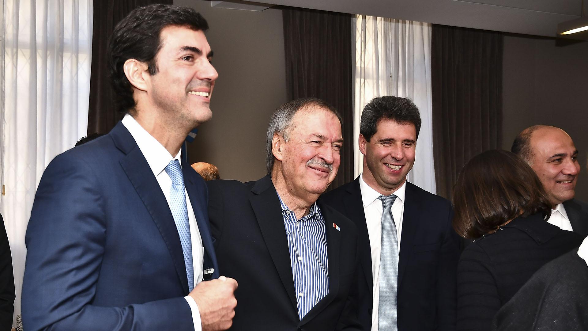 """Schiaretti con Urtubey, Uñac y Manzur. """"No soy el macho alfa del peronismo federal"""", dijo ayerel cordobés"""
