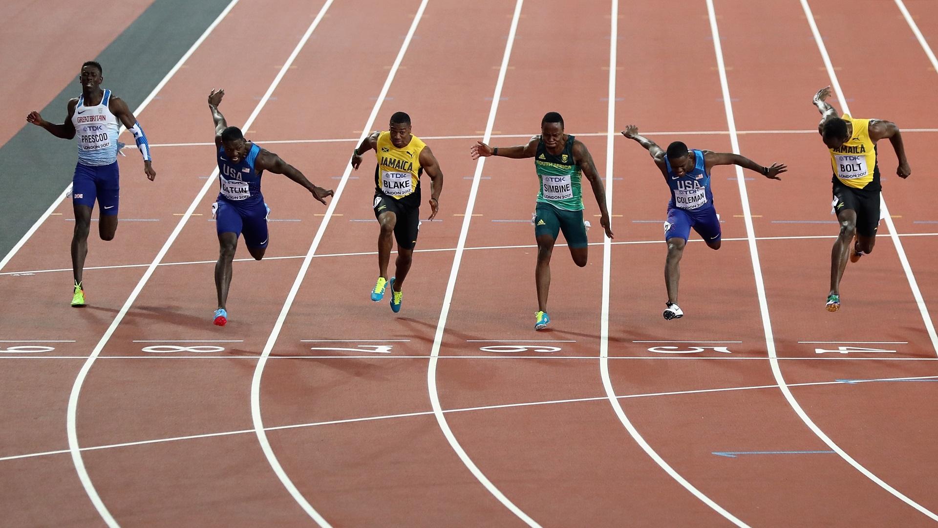 La apretada definición: Bolt quedó tercero detrás de Gatlin y Coleman