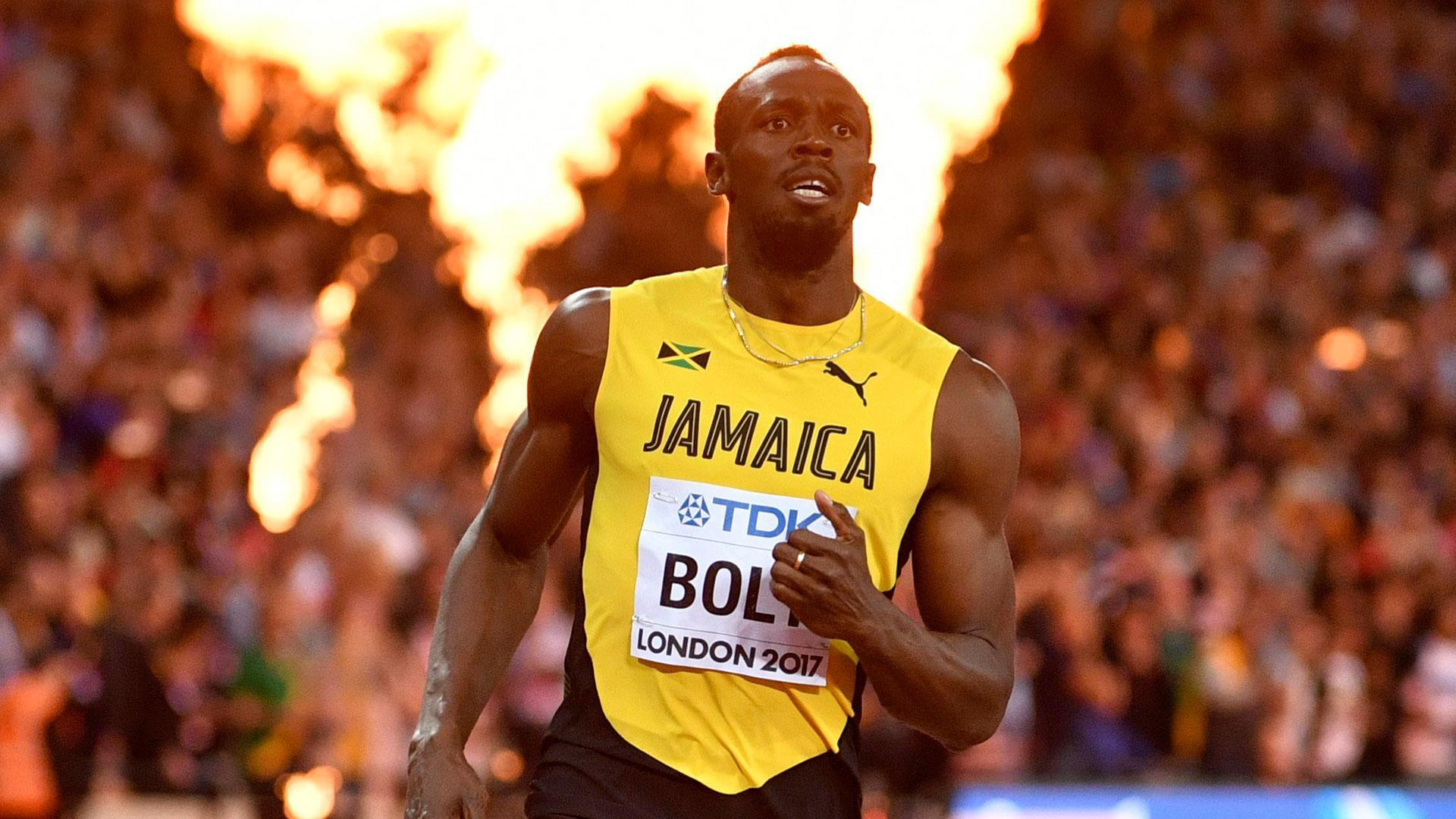 El legendario corredor hizo un tiempo de 9.95 segundos en su despedida