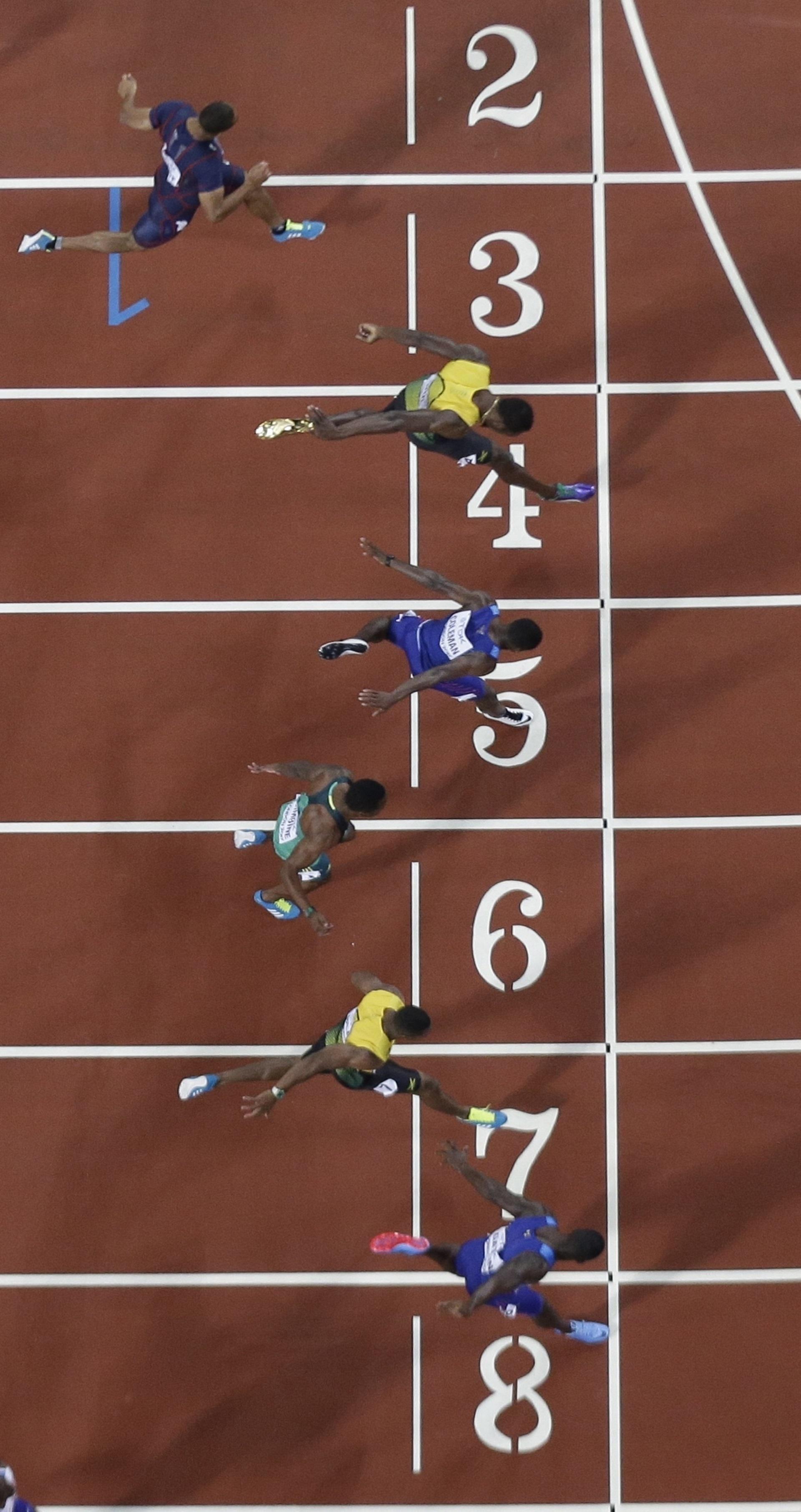 La reñida llegada de la final: Gatlin, Coleman y Bolt, los dueños del podio