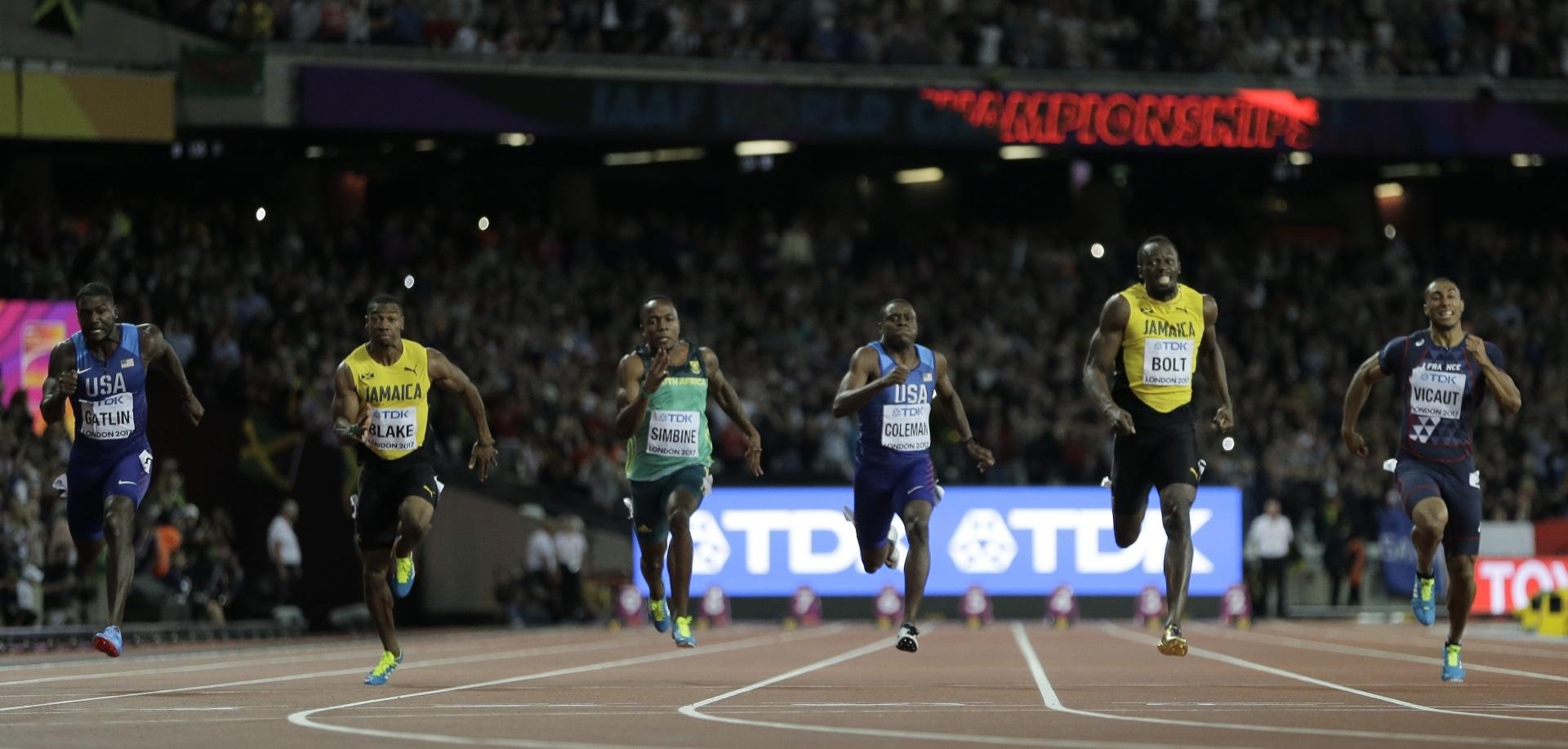 Gatlin ganó con un tiempo de 9.92 segundos, seguido por Coleman (9.94) y Bolt (9.95)