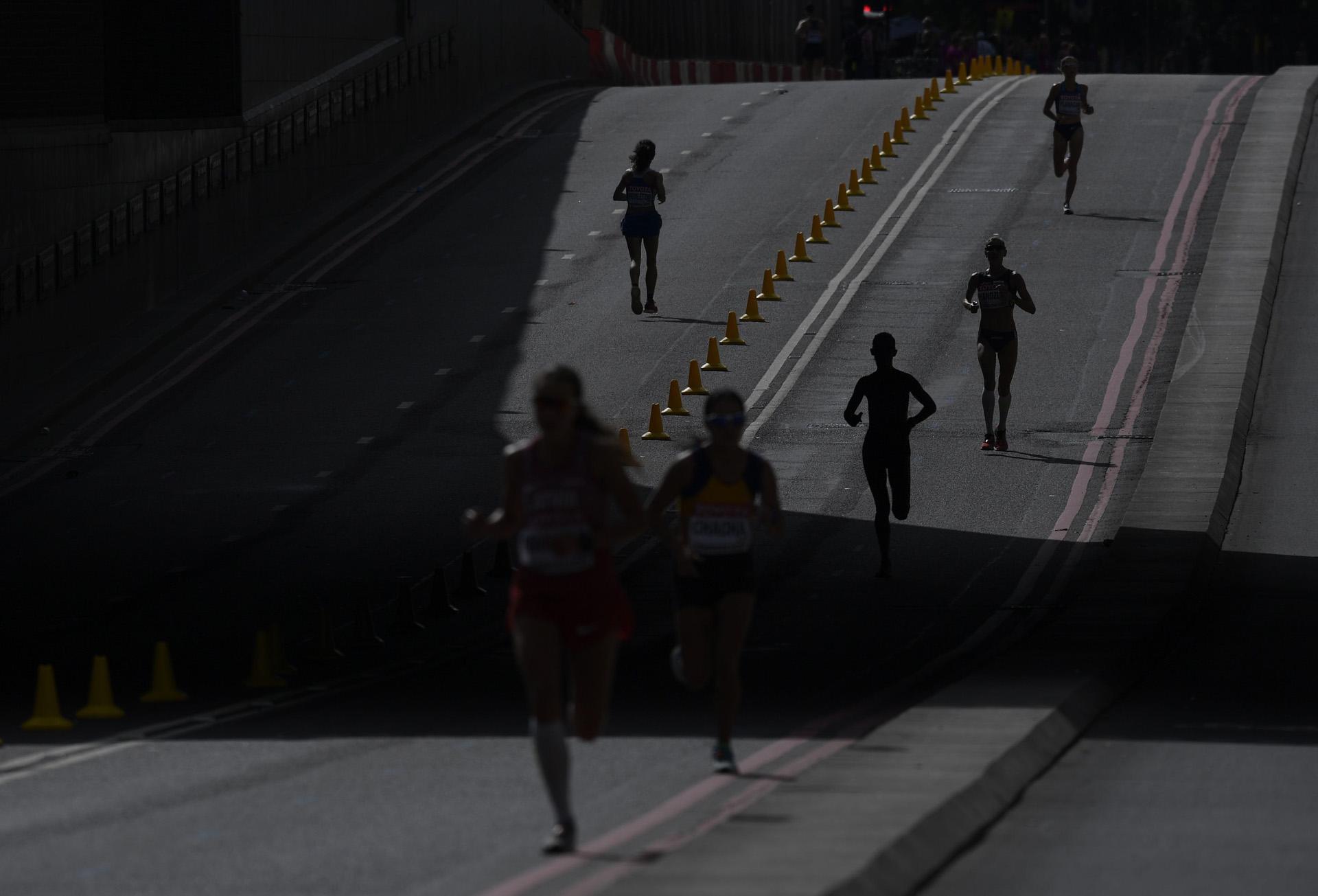 Parte del trazado de la maratón femenina