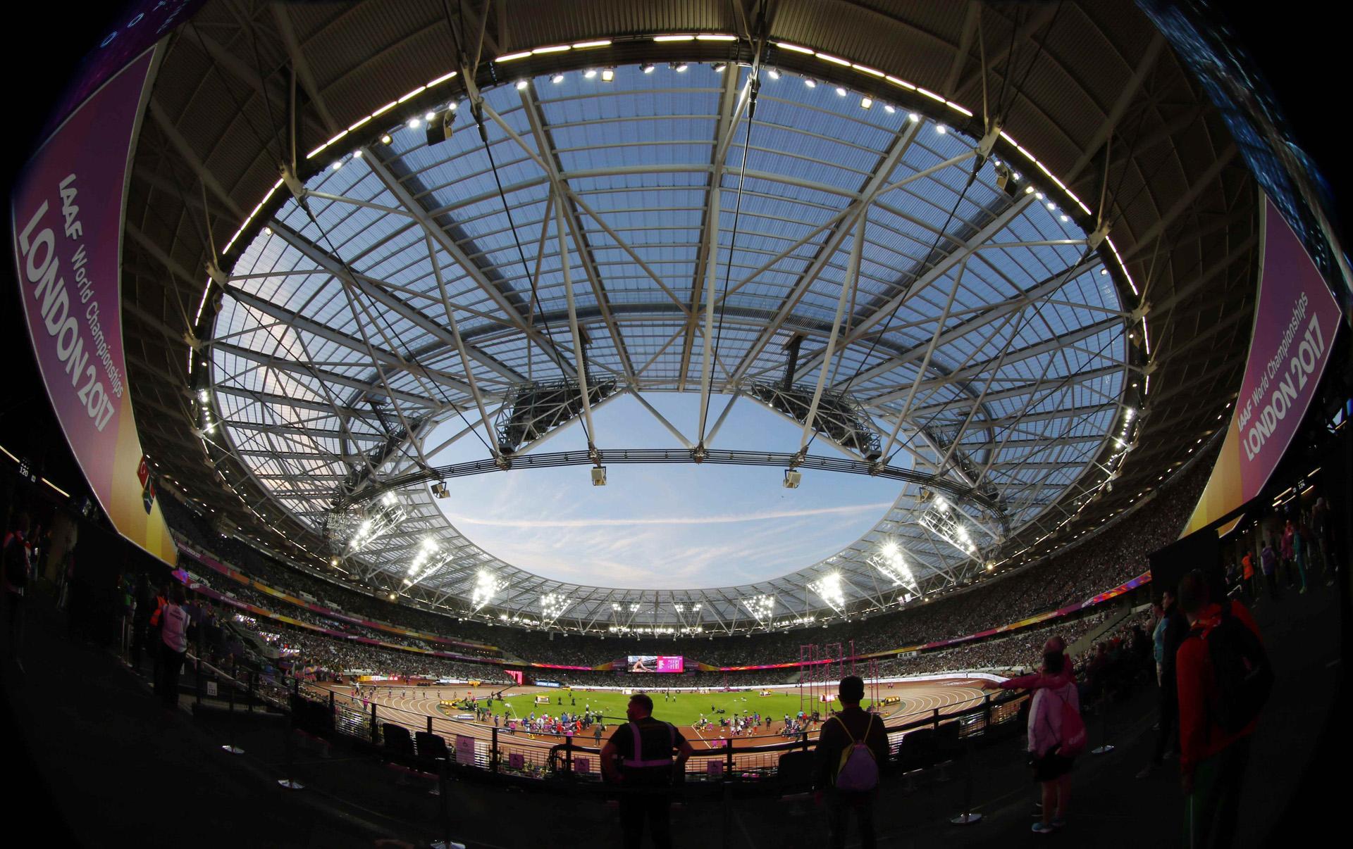 El estadio de Londres listo para la competencia