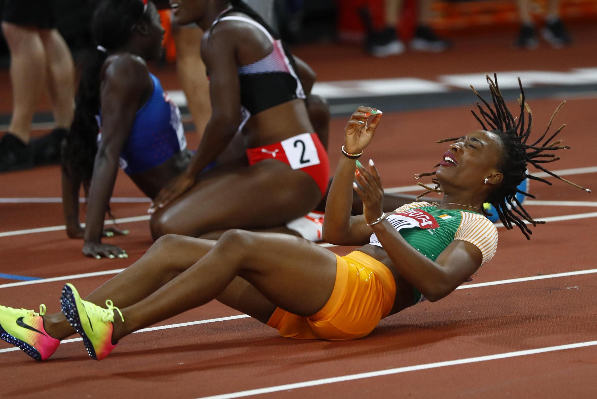 El lamento de la marfileña Marie-Josee Ta Lou tras la final de los 100 metros