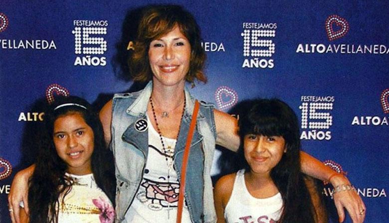 Celina Rucci y sus dos hijas adoptadas
