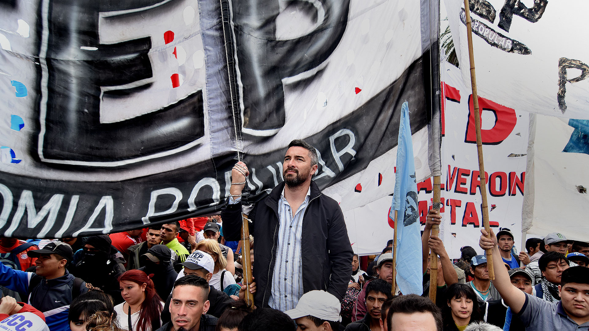 La movilización generó un caos de tránsito en el centro porteño