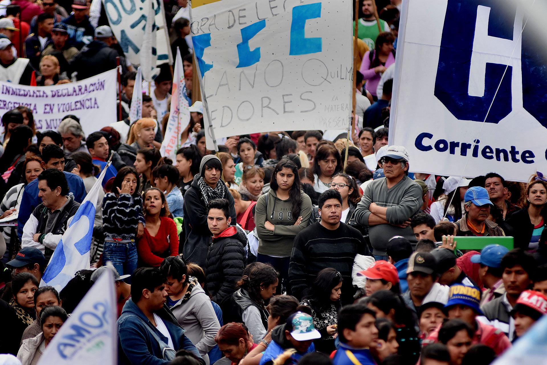 El titular de la CCC, Juan Carlos Alderete; y Esteban Castro, representante de la Ctep. también estuvieron presentes