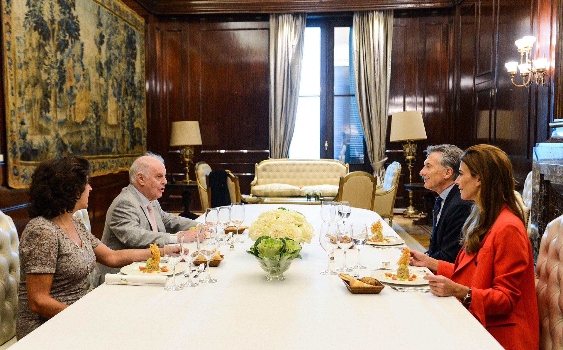 Mauricio Macri compartió un almuerzo en la Casa Rosada con el director de orquesta Daniel Barenboim