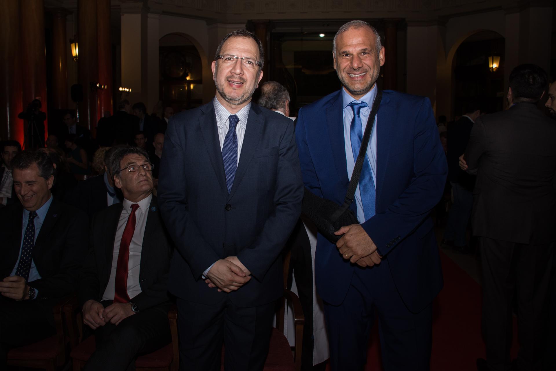 Fabián Perechodnik y Luis Galli, CEO de Newsan