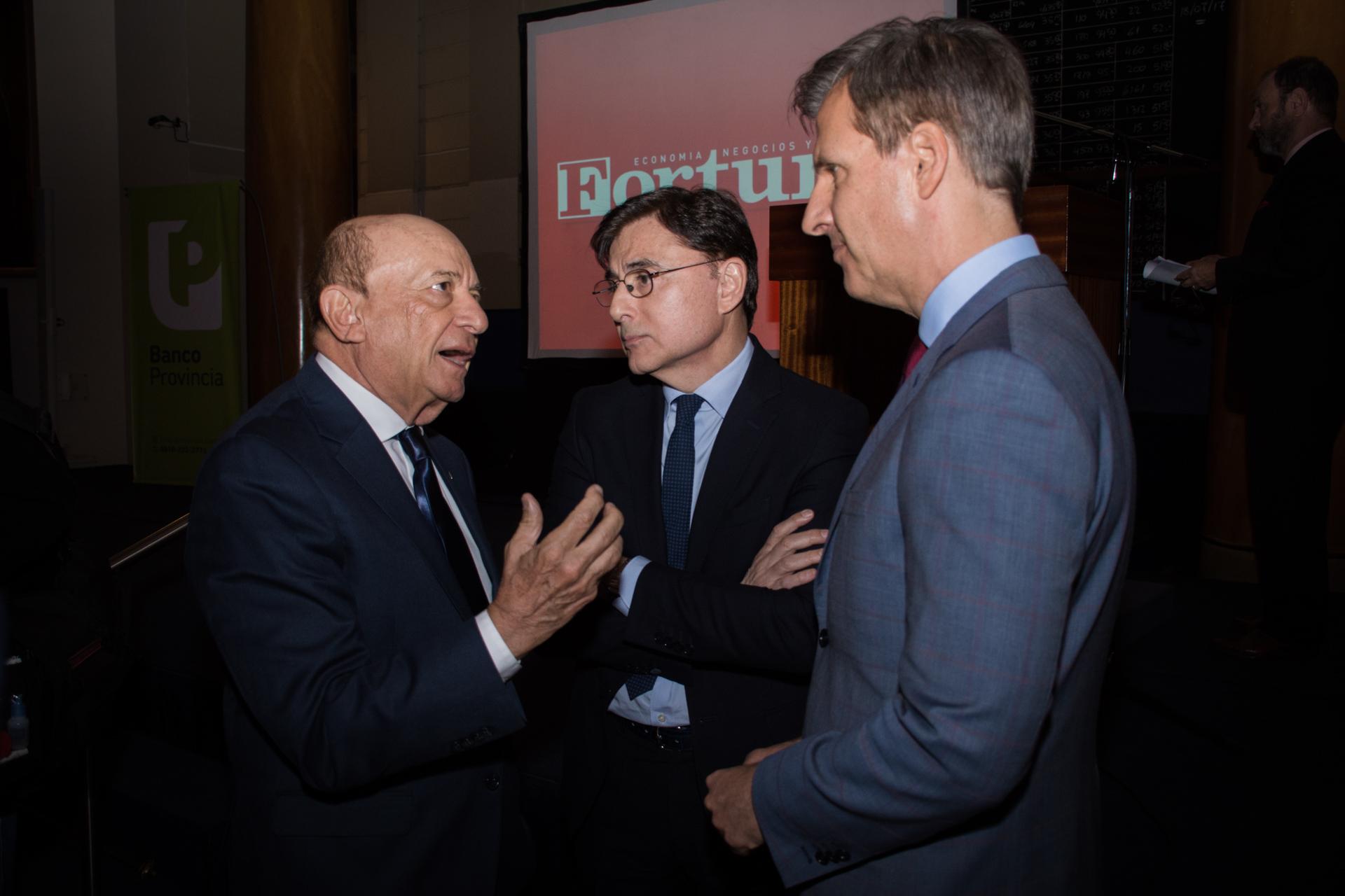 Alfredo Coto, Jorge Fontevecchia y Martín Redrado