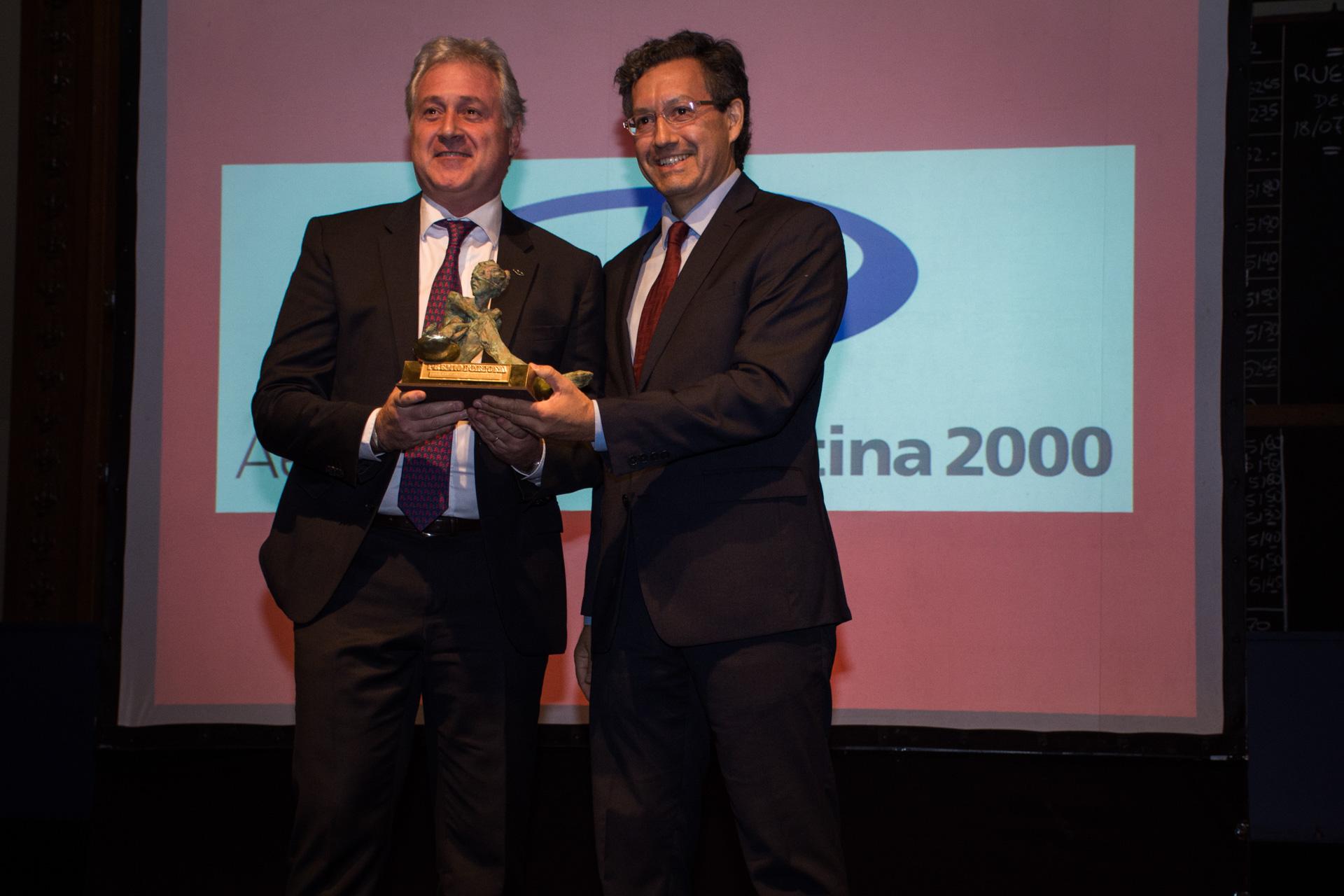 El premio a la Mejor Empresa de Logística y Transporte lo recibió Aeropuertos Argentina 2000 en manos de su CEO, Matías Patanian. El galardón fue entregado por Ceferino Reato