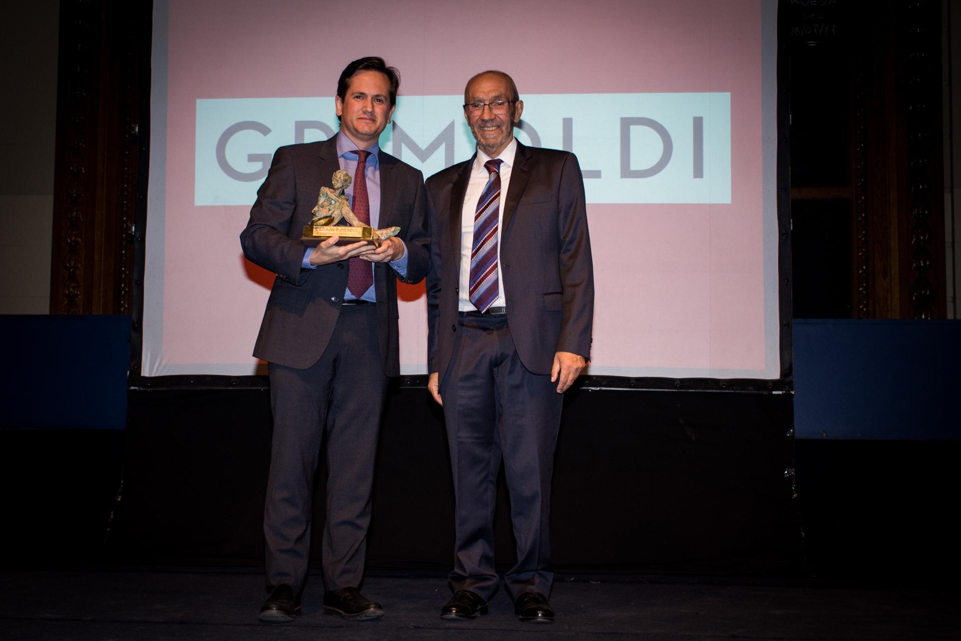 Grimoldi fue elegida en la categoría Mejor Empresa Textil e Indumentaria. El premio fue recibido por el director de marcas, Hernán Grimoldi