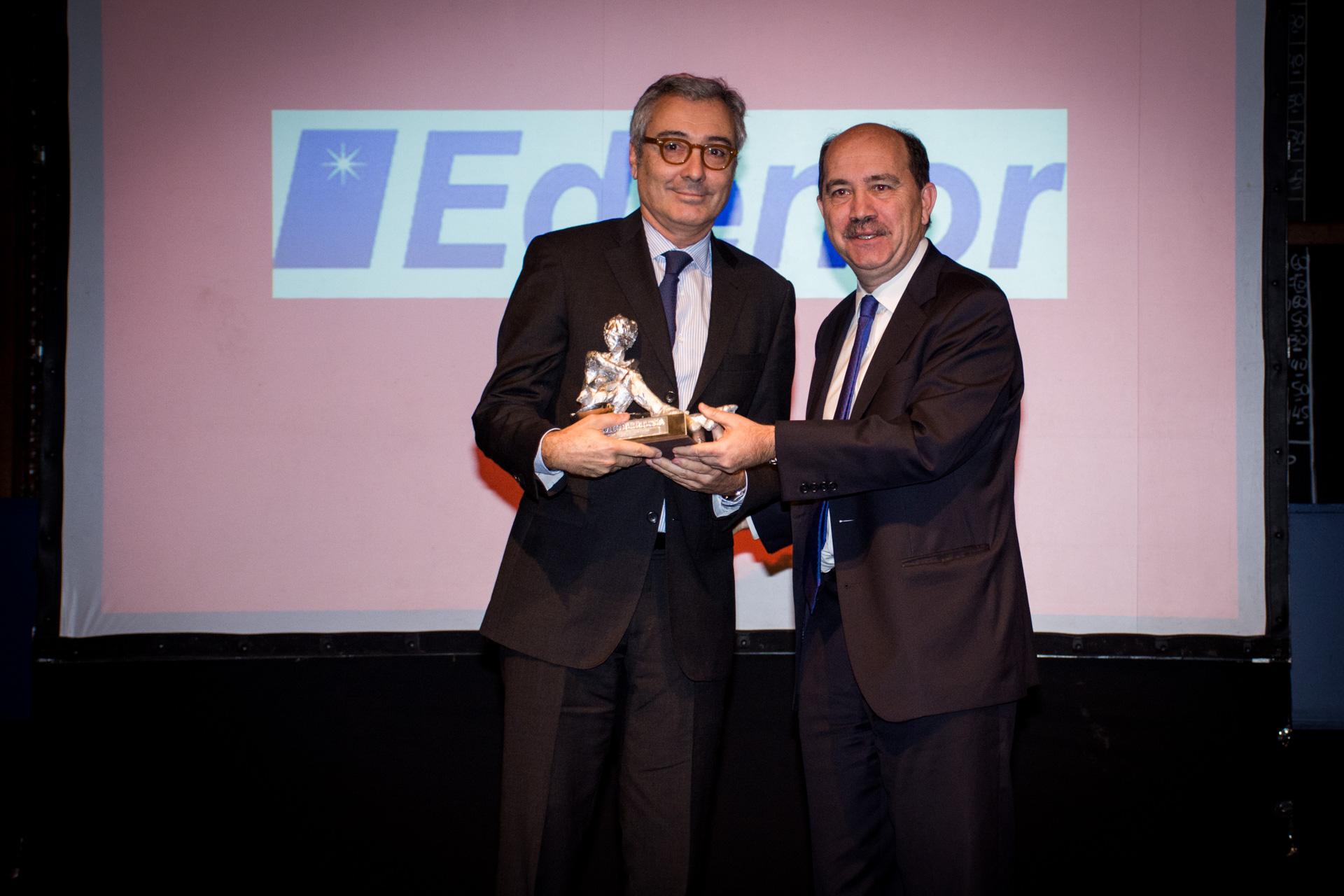 El Premio Fortuna de Plata a la Mayor Empresa fue para Edenor. Recibió su CEO y presidente, Ricardo Torres. El premio fue entregado por Javier Ortiz Batalla, presidente del Banco Ciudad