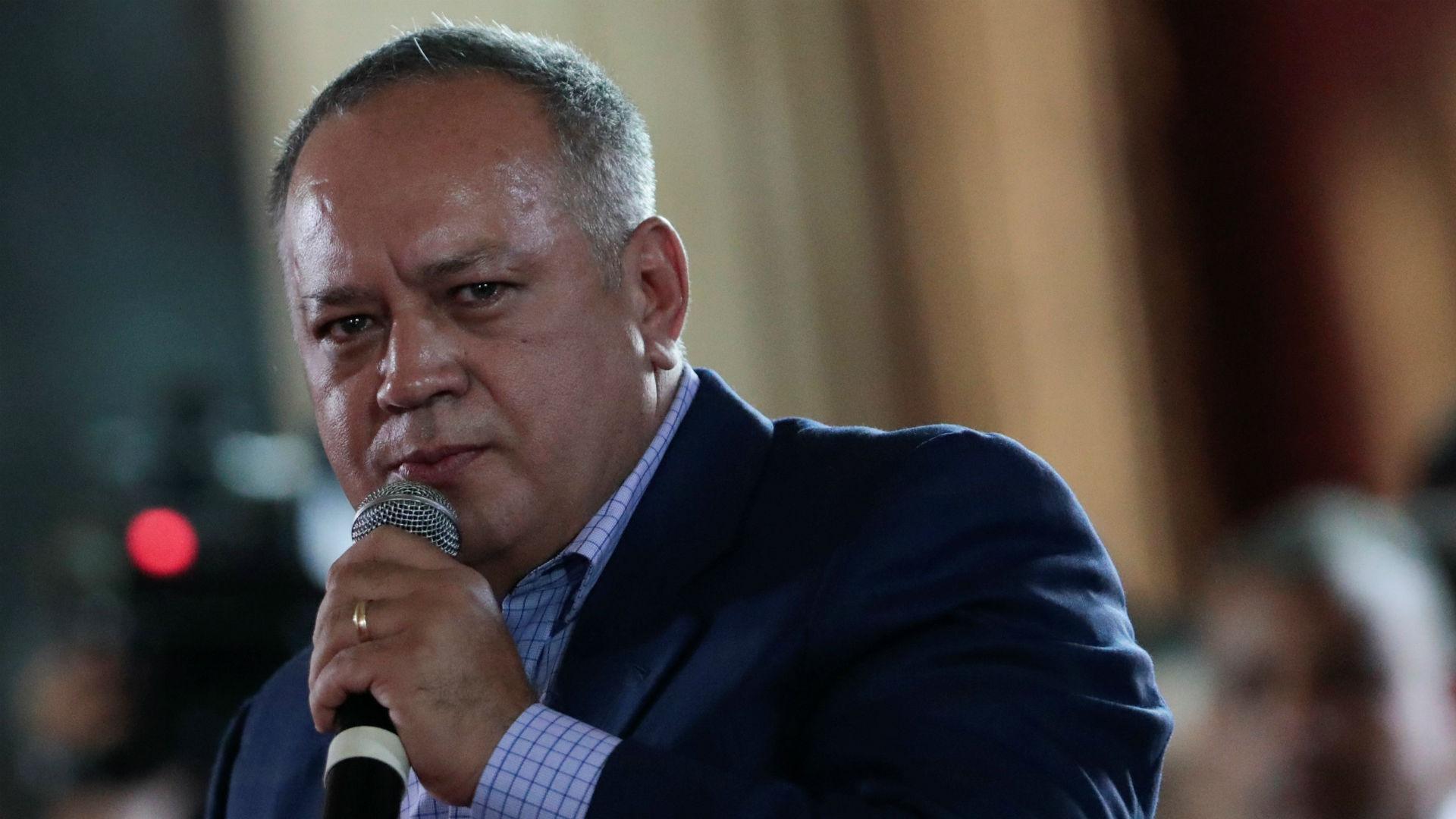 Diosdado Cabello durante un discurso en la primera sesión de la Constituyente (Reuters)