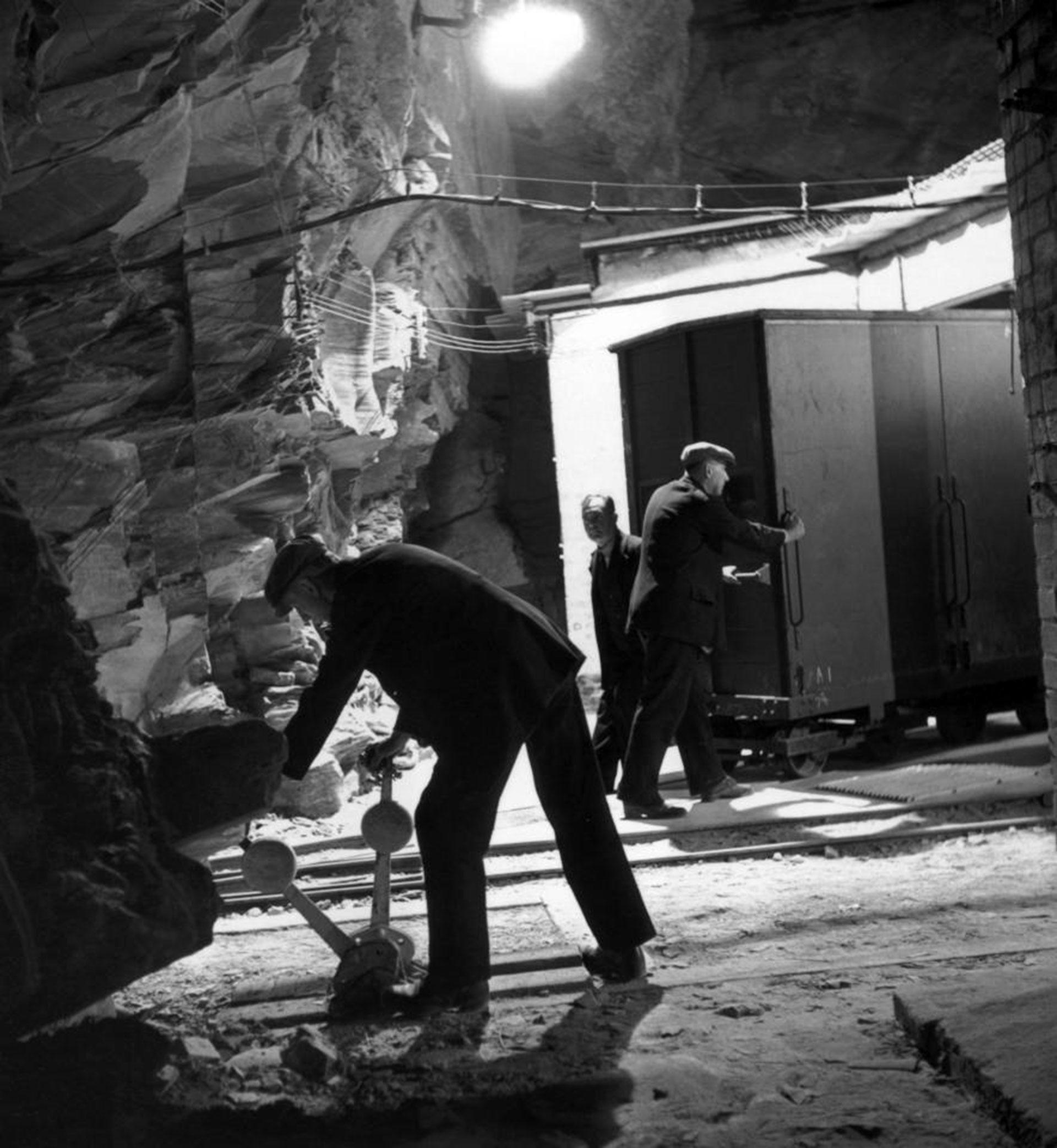 La entrada a una de las cámaras de conservación dentro de la mina