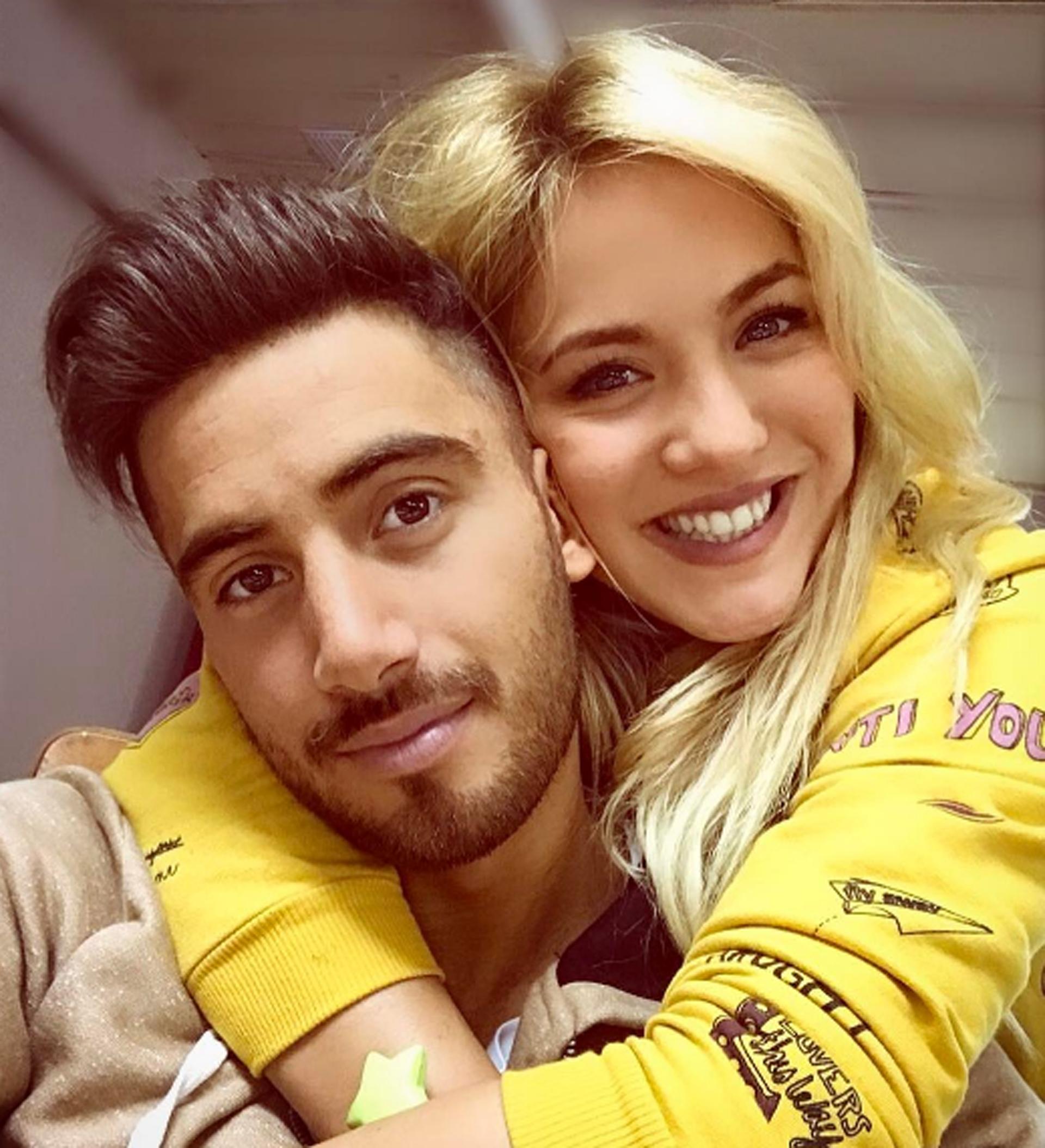 Flor VIgna junto a su novio, Nicolás Occhiato, con quien sufrió una crisis a raíz de todo lo sucedido en los últimos días